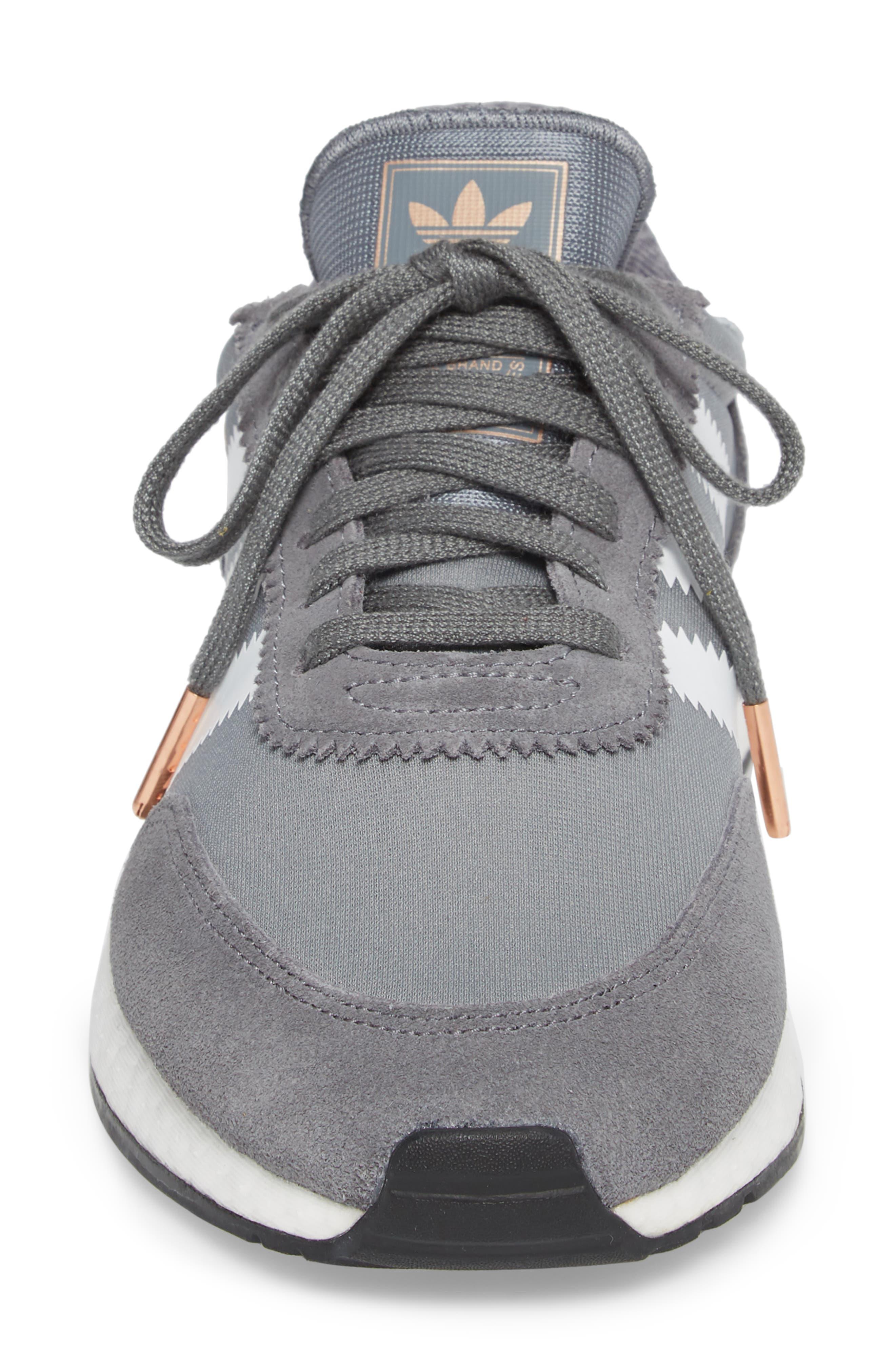 I-5923 Sneaker,                             Alternate thumbnail 4, color,                             Visible Grey/ White/ Black