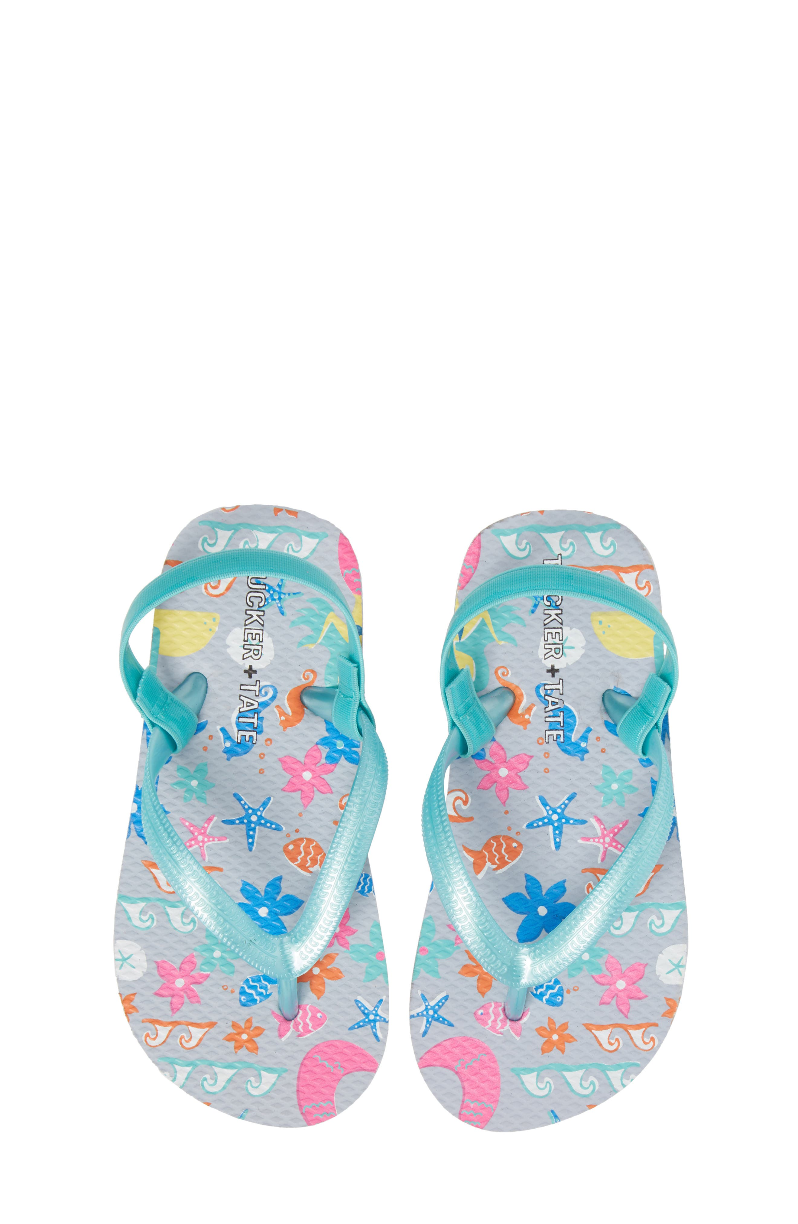 Annabelle Flip Flop,                         Main,                         color, Turquoise Mermaid