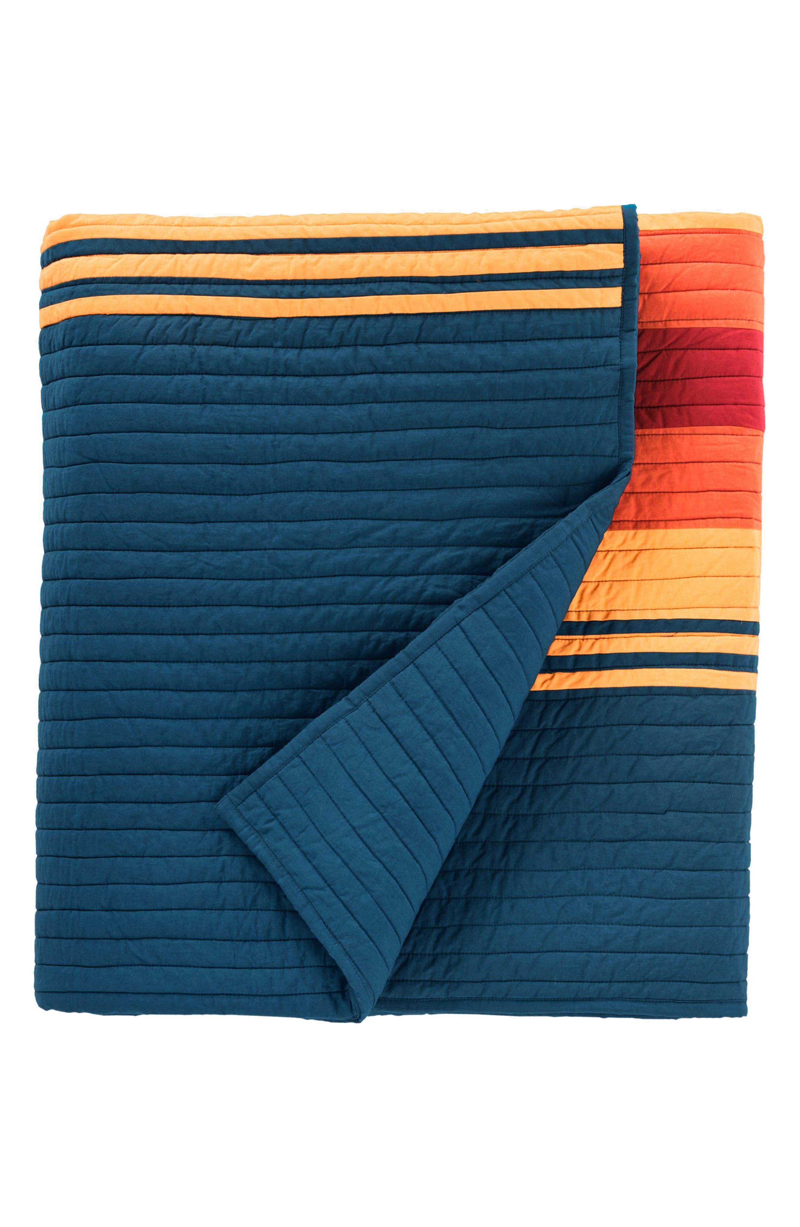 National Park Stripe Quilt & Sham Set,                             Alternate thumbnail 2, color,                             Navy