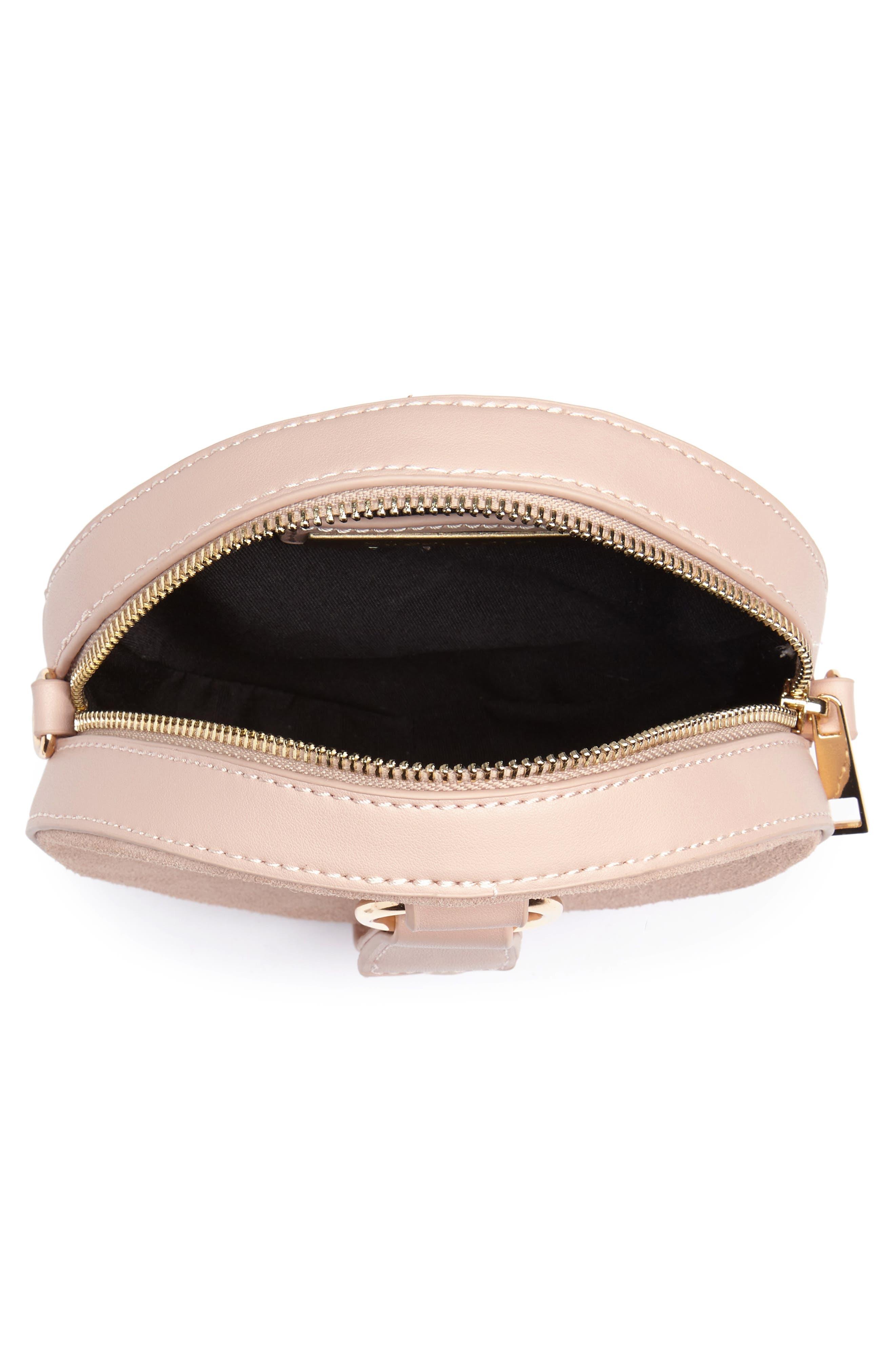Circle Bag with Wristlet,                             Alternate thumbnail 4, color,                             Tan