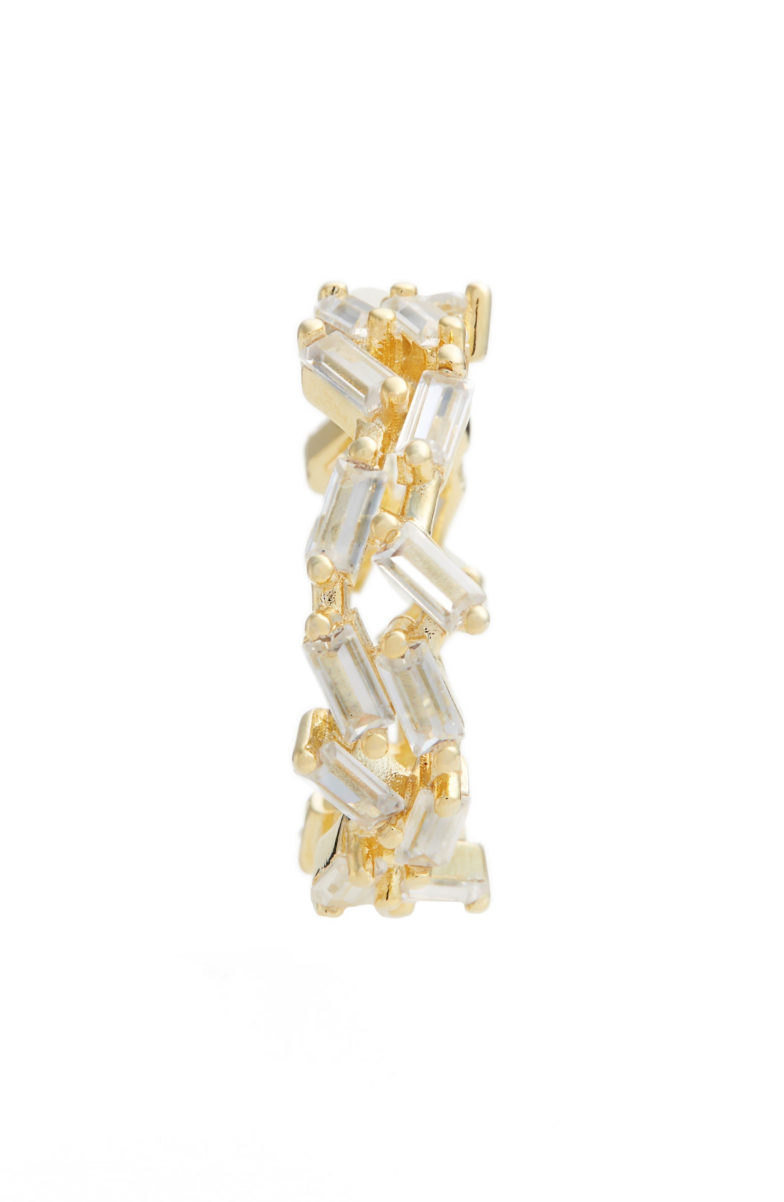 Dagmar Crystal Eternity Ring,                             Alternate thumbnail 2, color,                             Gold