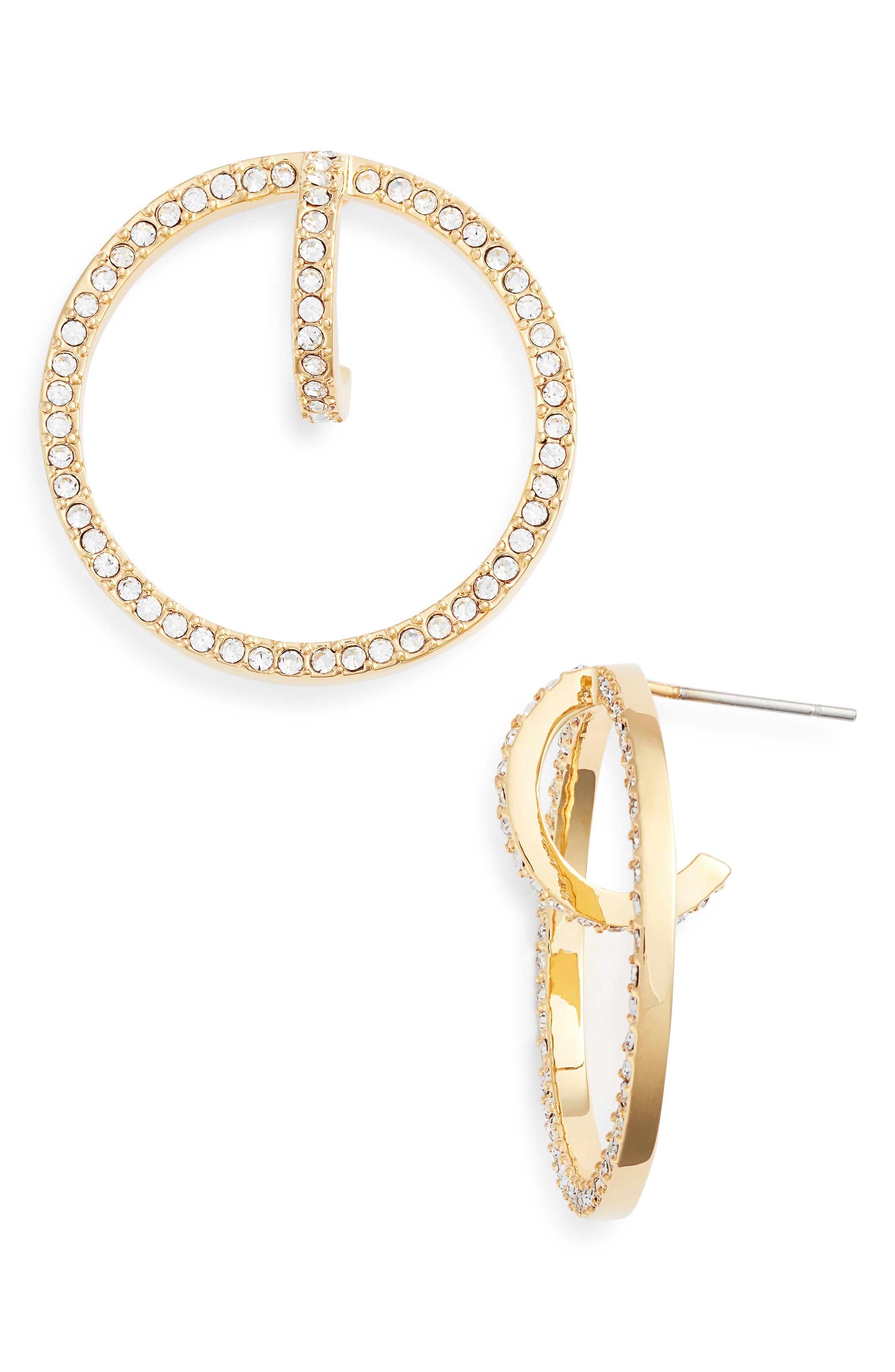 Orbital Hoop Earrings,                             Main thumbnail 1, color,                             Gold