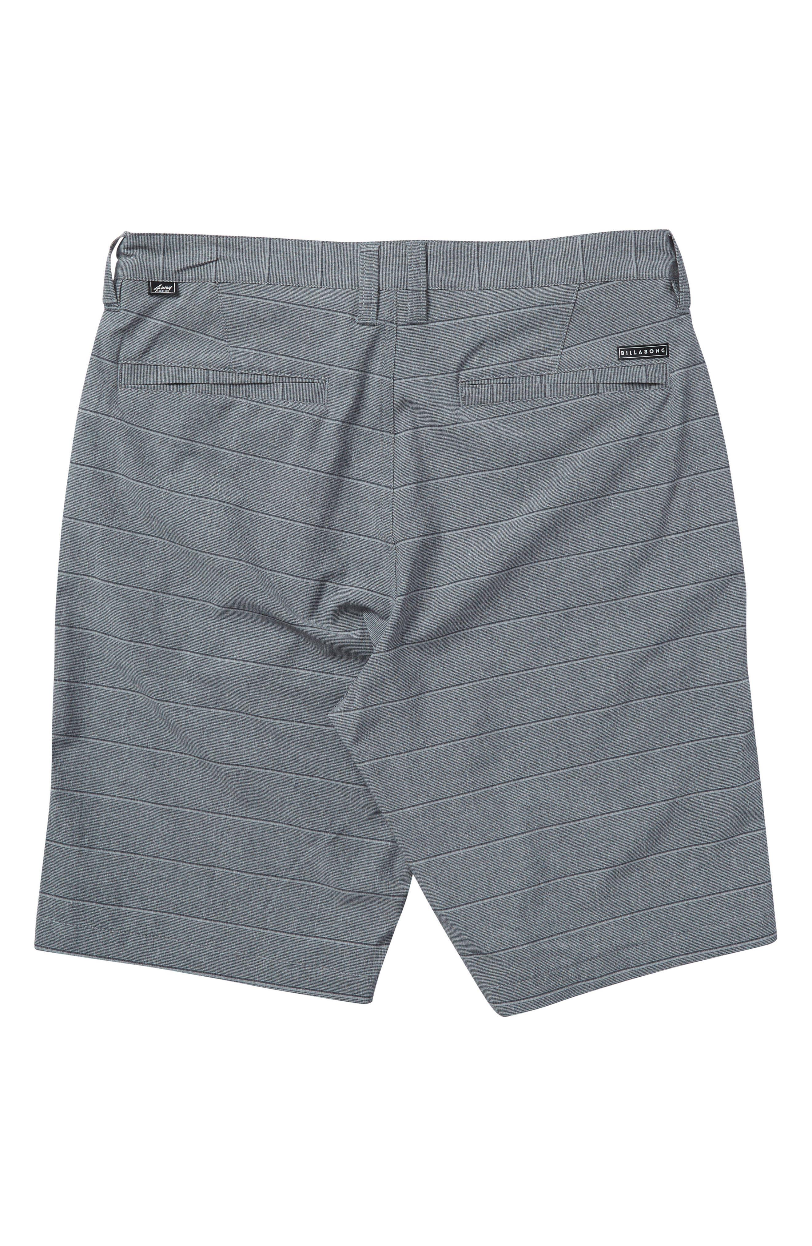 Crossfire X Stripe Hybrid Shorts,                             Alternate thumbnail 2, color,                             Dark Grey