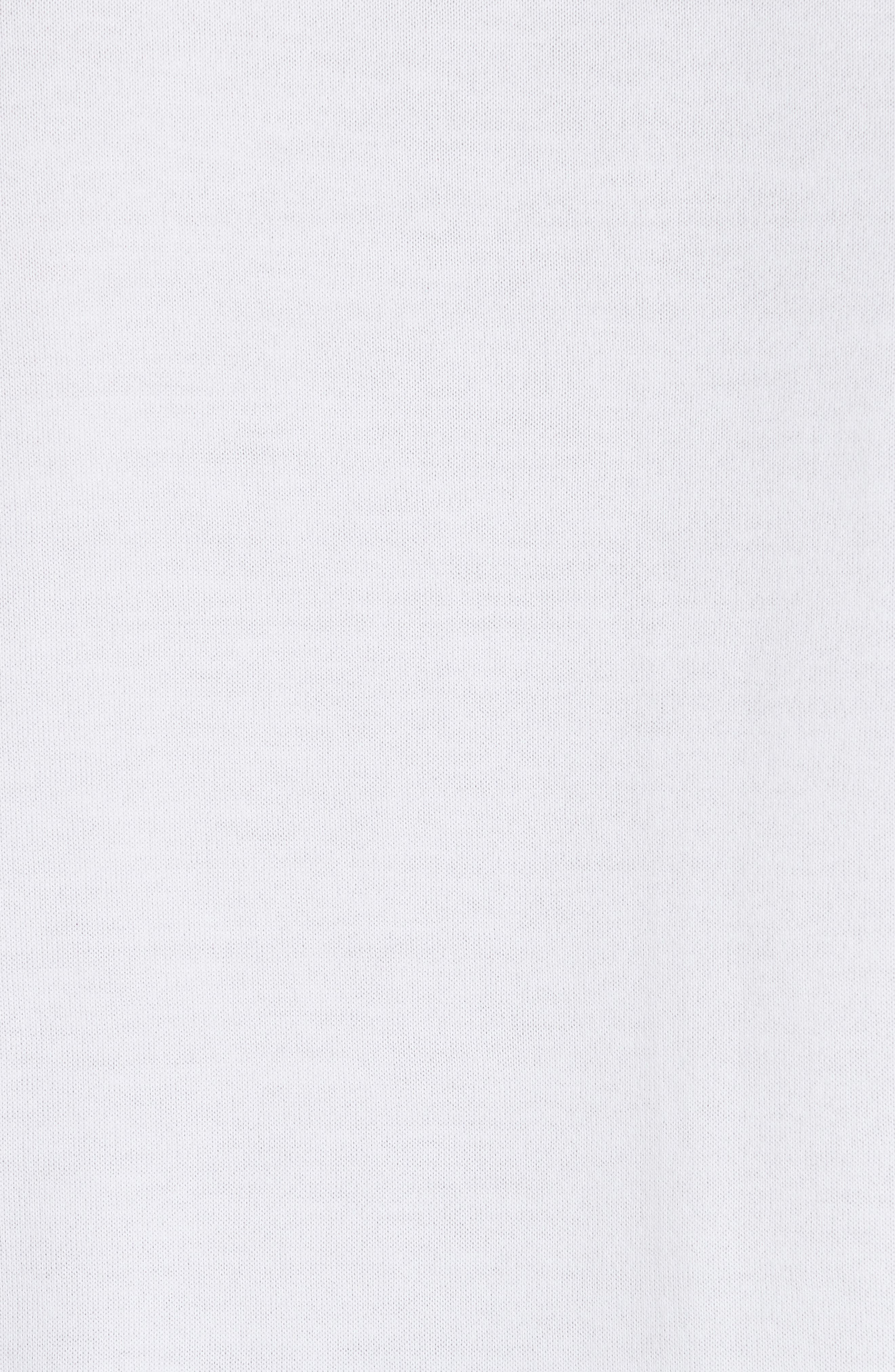 Long Sleeve Polo Shirt,                             Alternate thumbnail 5, color,                             Ivory
