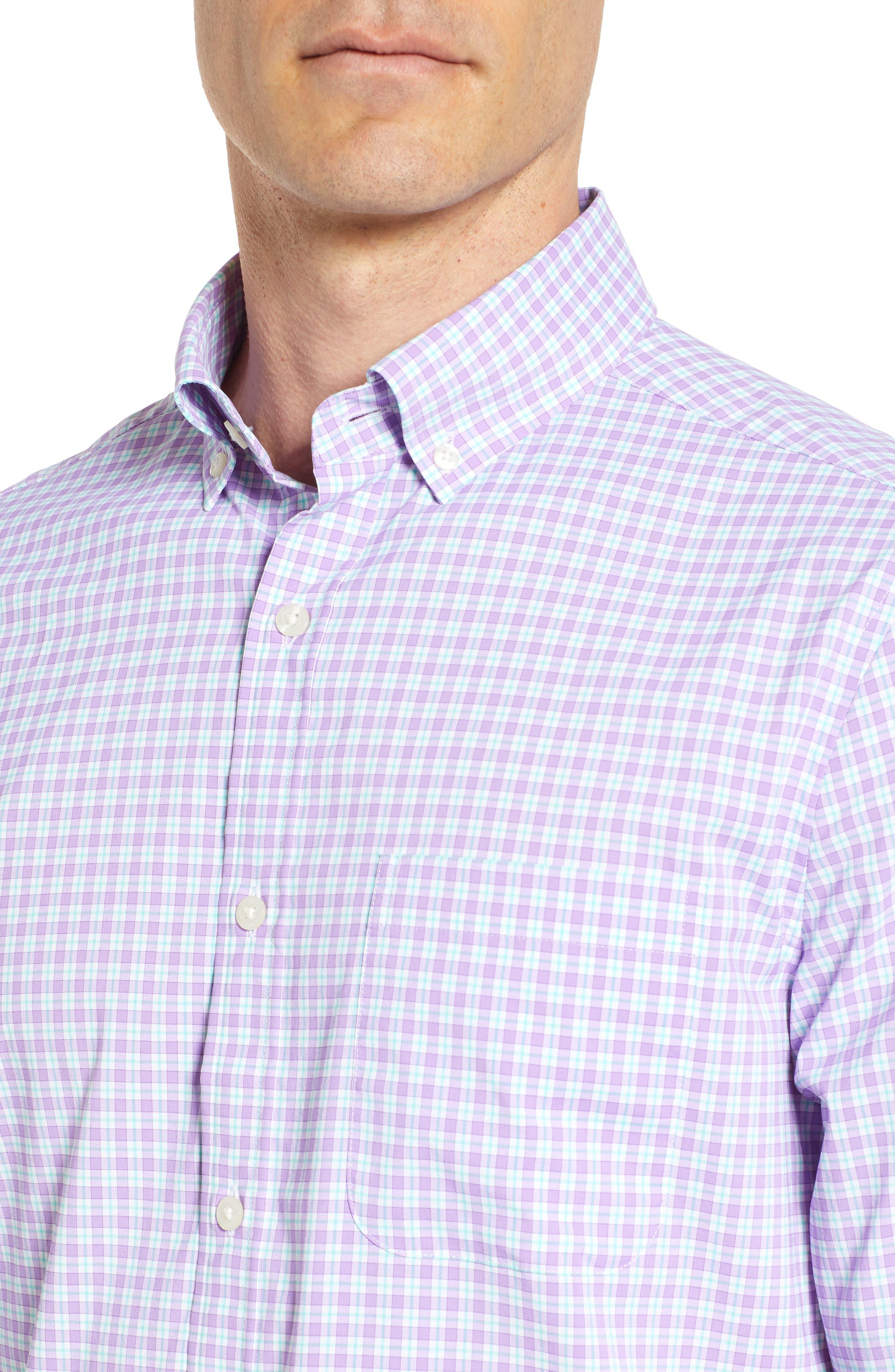 Oyster Pond Slim Fit Plaid Sport Shirt,                             Alternate thumbnail 2, color,                             Sea Urchin