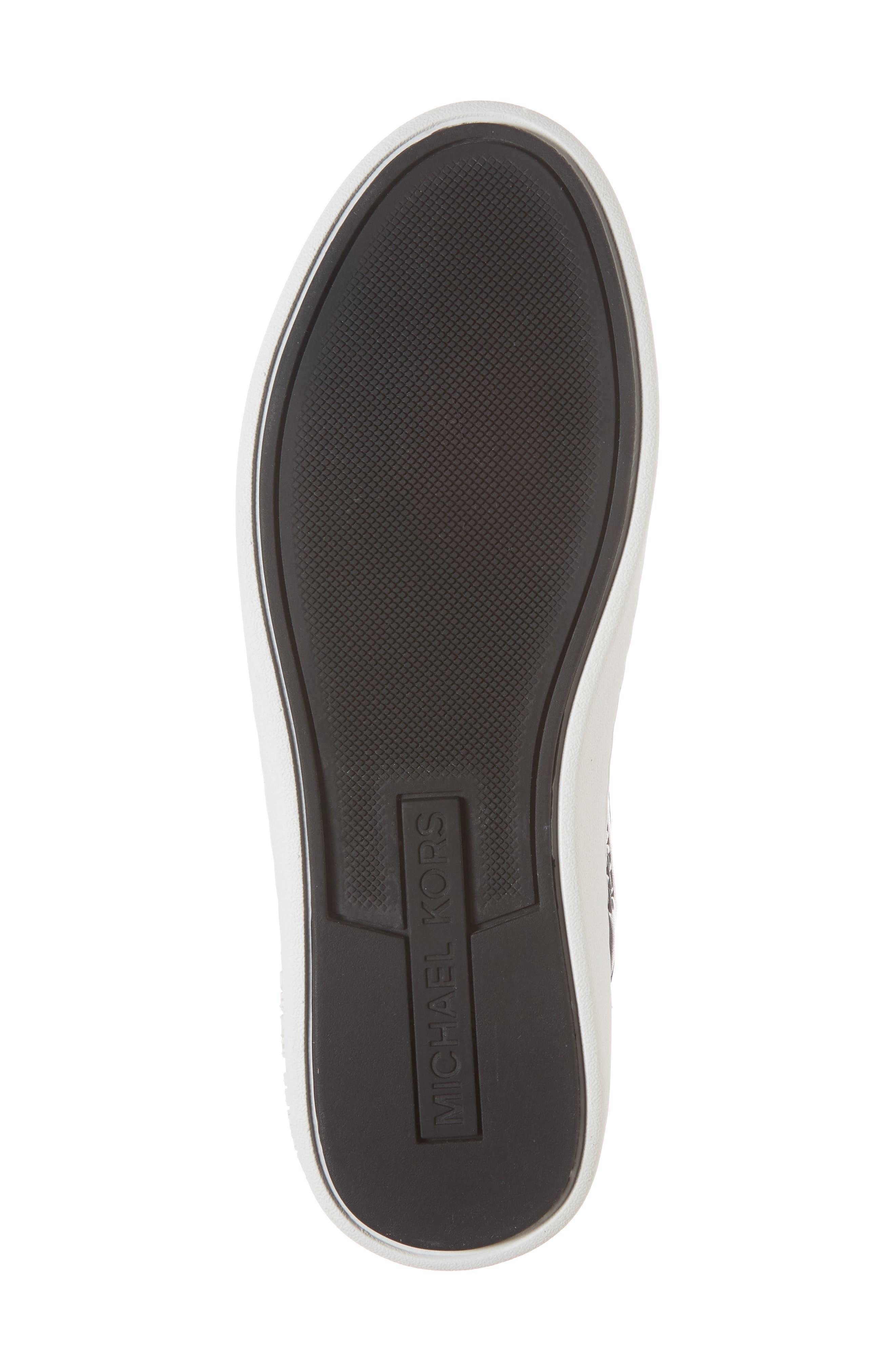 Hilda High Top Sock Sneaker,                             Alternate thumbnail 6, color,                             Black Knit Fabric