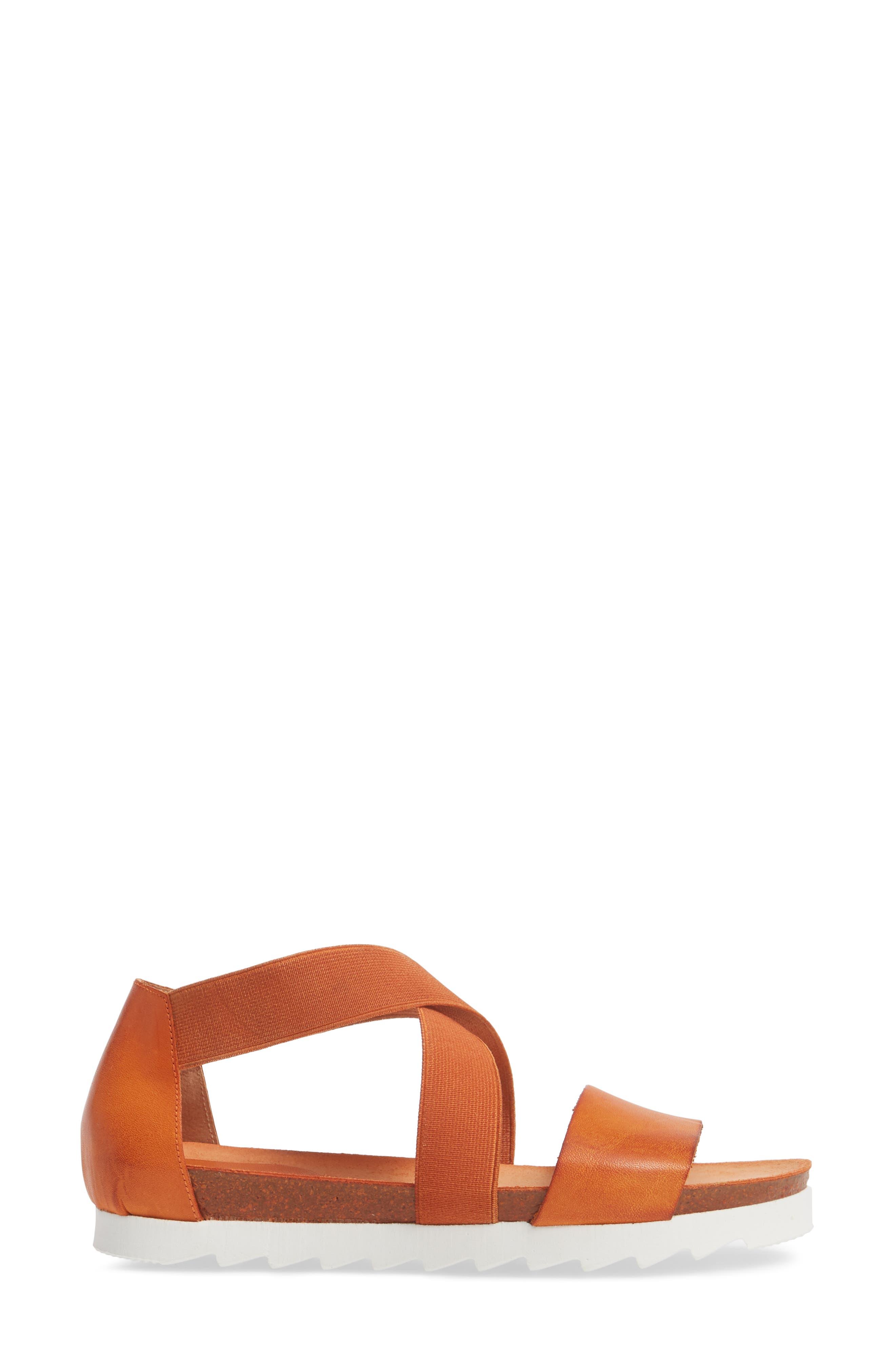 Sayger Sandal,                             Alternate thumbnail 3, color,                             Orange Leather