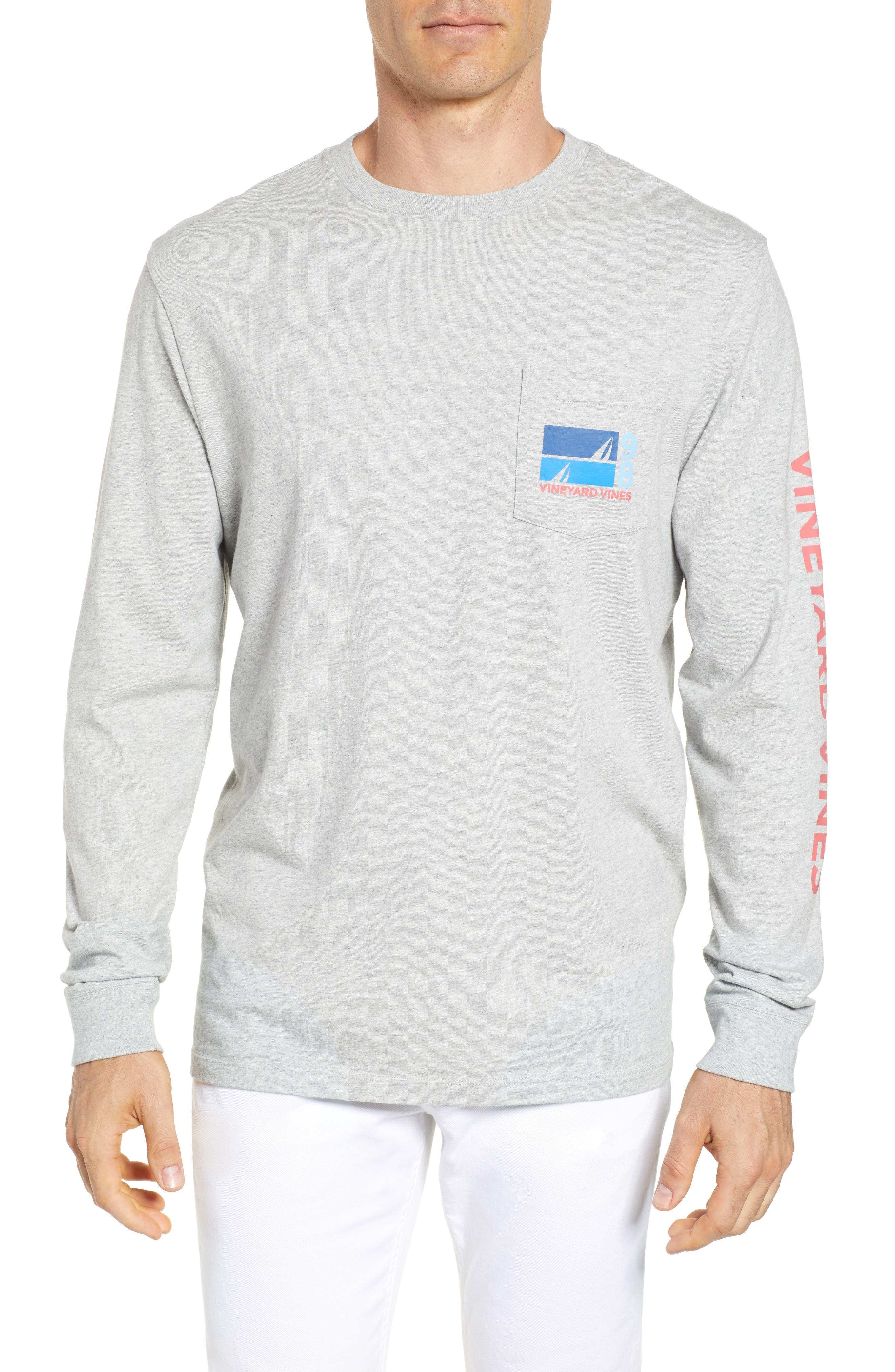 Sailing Blue Regular Fit Crewneck T-Shirt,                         Main,                         color, Gray Heather