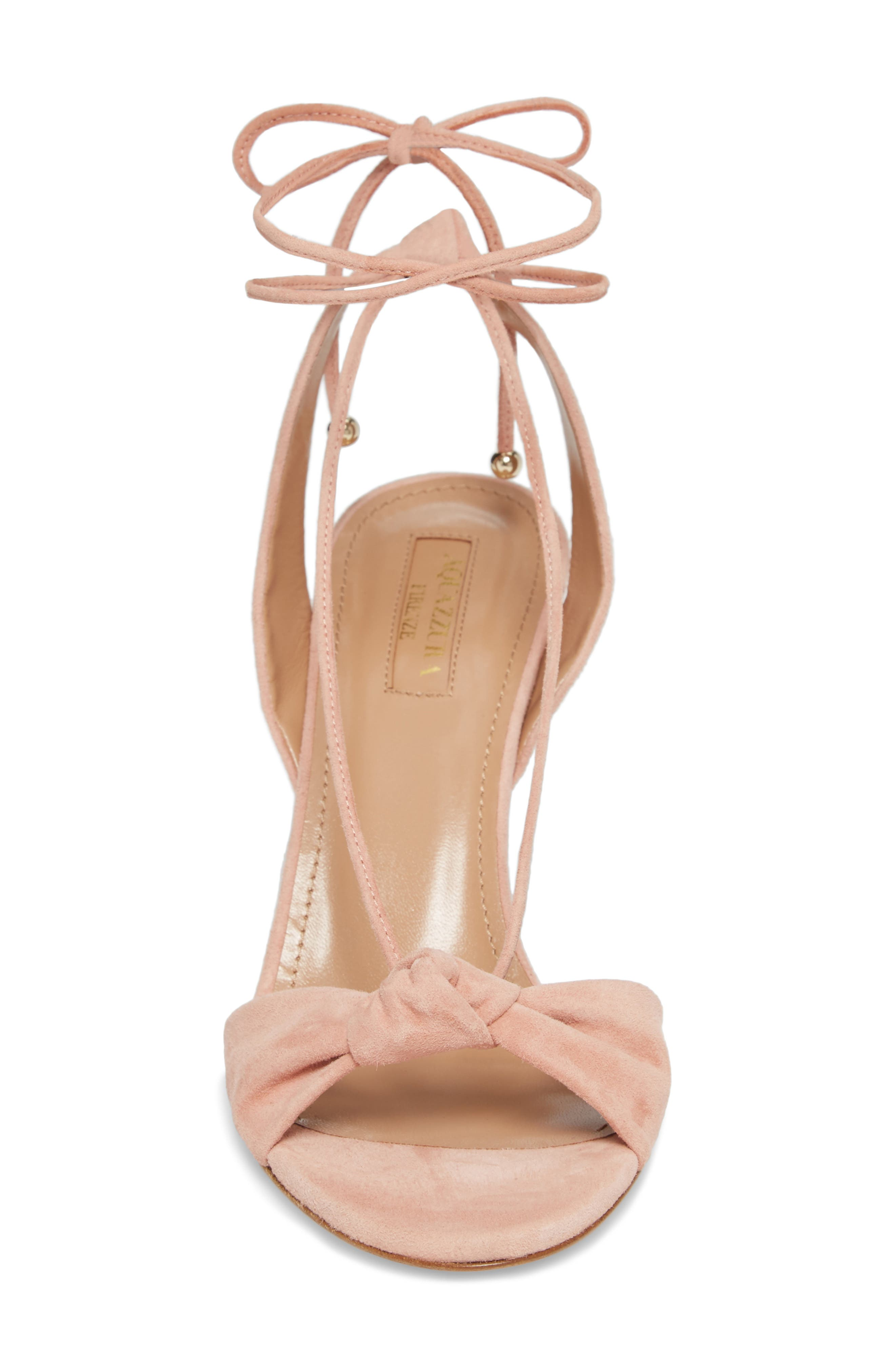 Virginie Lace-Up Sandal,                             Alternate thumbnail 4, color,                             French Rose