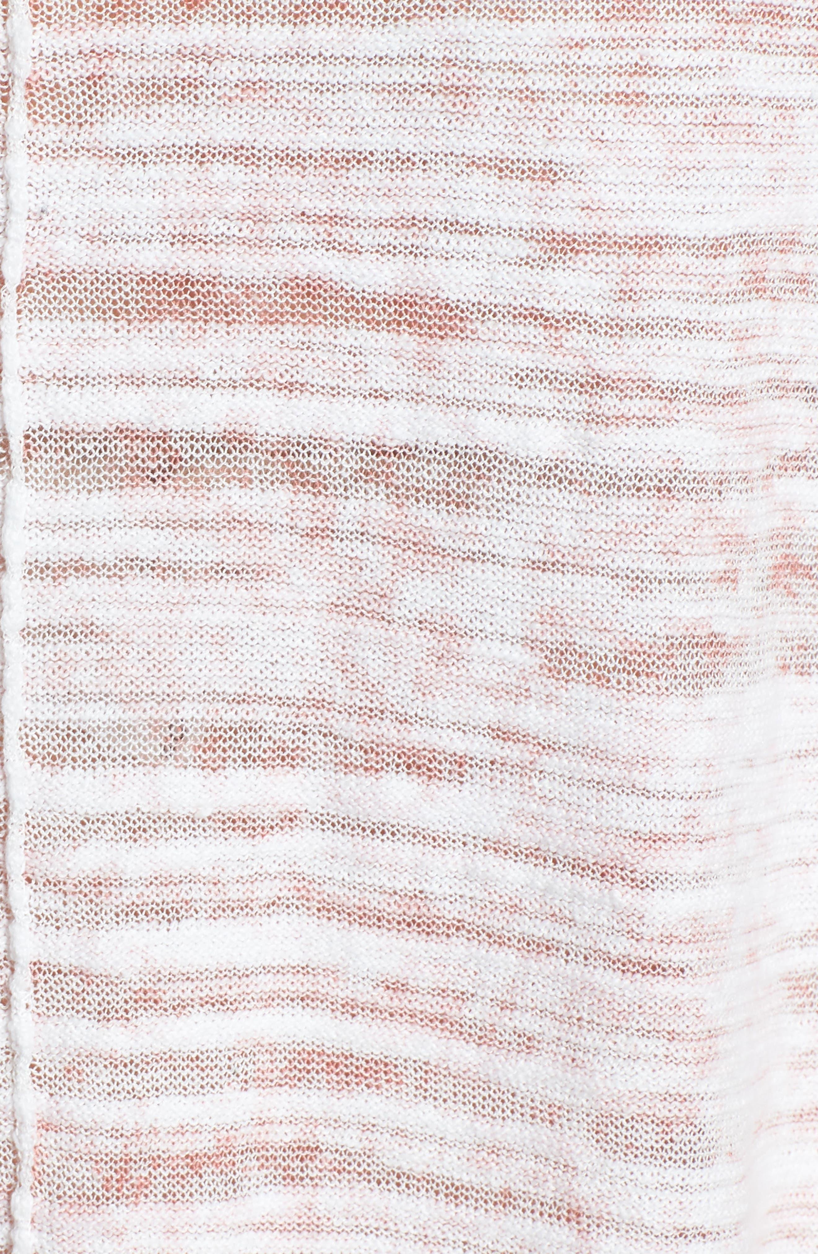 Open Breeze Linen Cotton Blend Sweater,                             Alternate thumbnail 5, color,                             Pink Clay