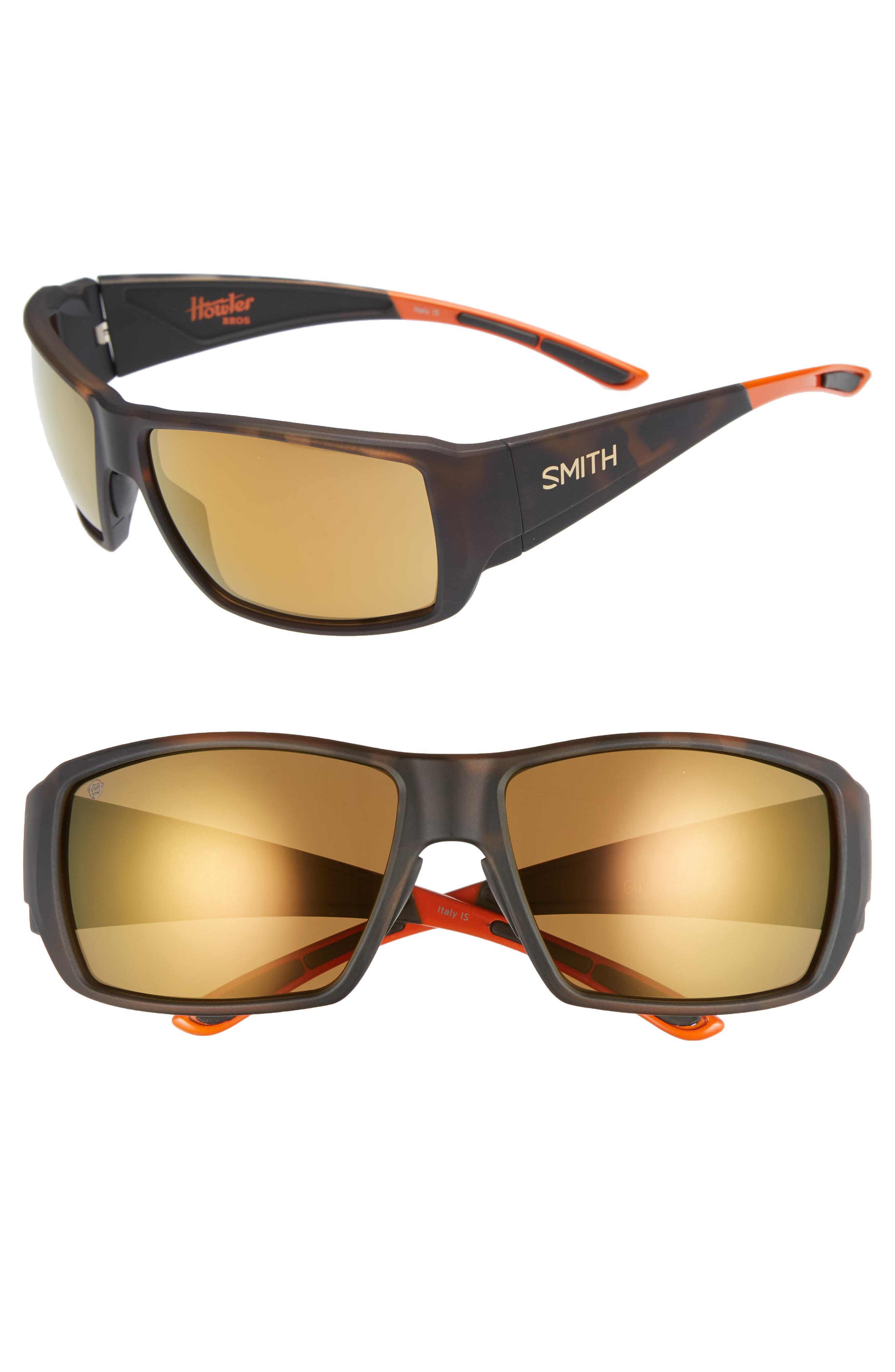 SMITH GUIDE'S CHOICE 62MM CHROMAPOP(TM) SPORT SUNGLASSES - MATTE TORTOISE/ BRONZE MIRROR