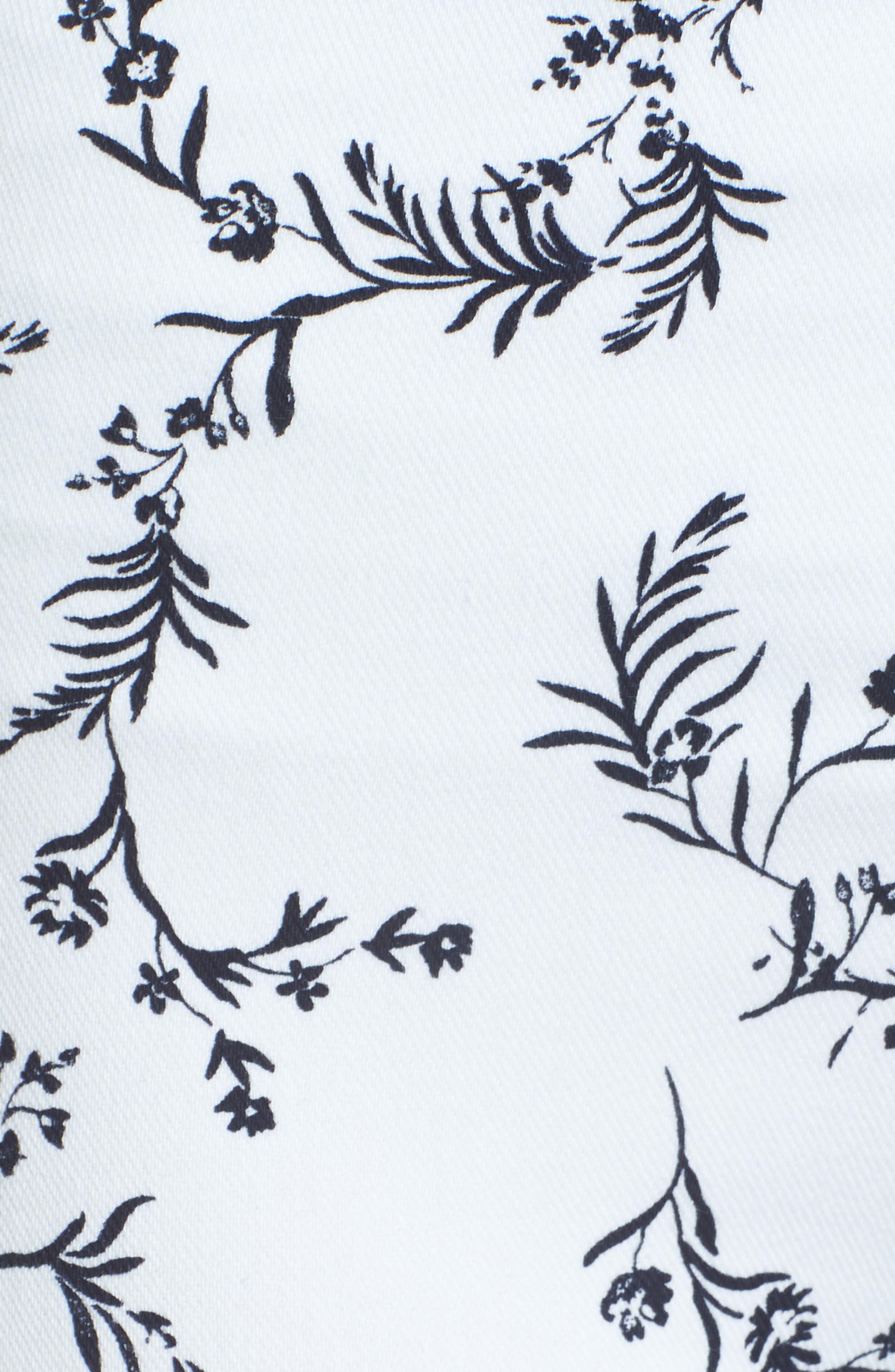 Toothpick High Rise Crop Denim Leggings,                             Alternate thumbnail 5, color,                             Hana Print
