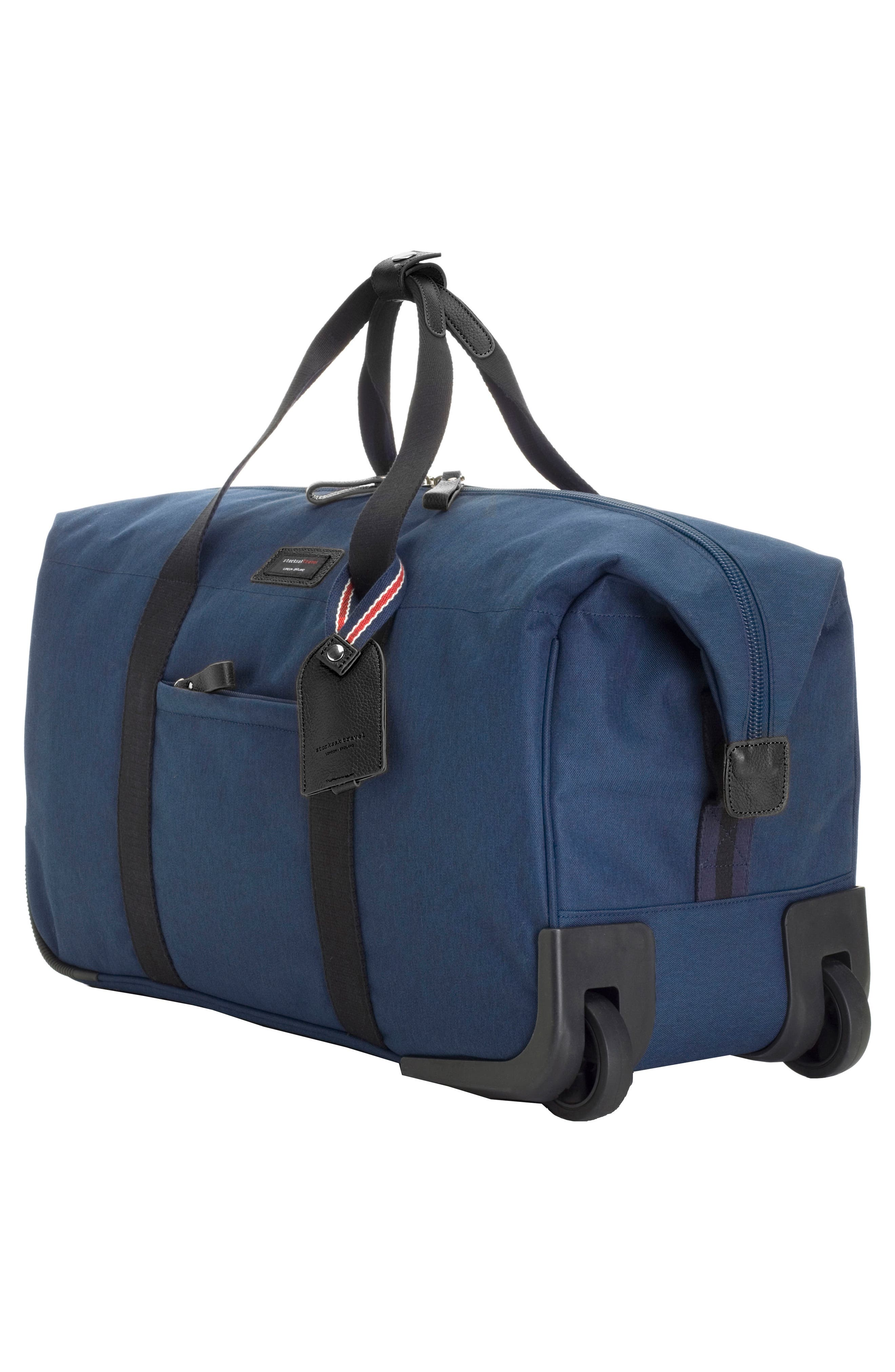 Cabin Wheeled Carry-On with Hanging Organizer,                             Alternate thumbnail 3, color,                             Navy