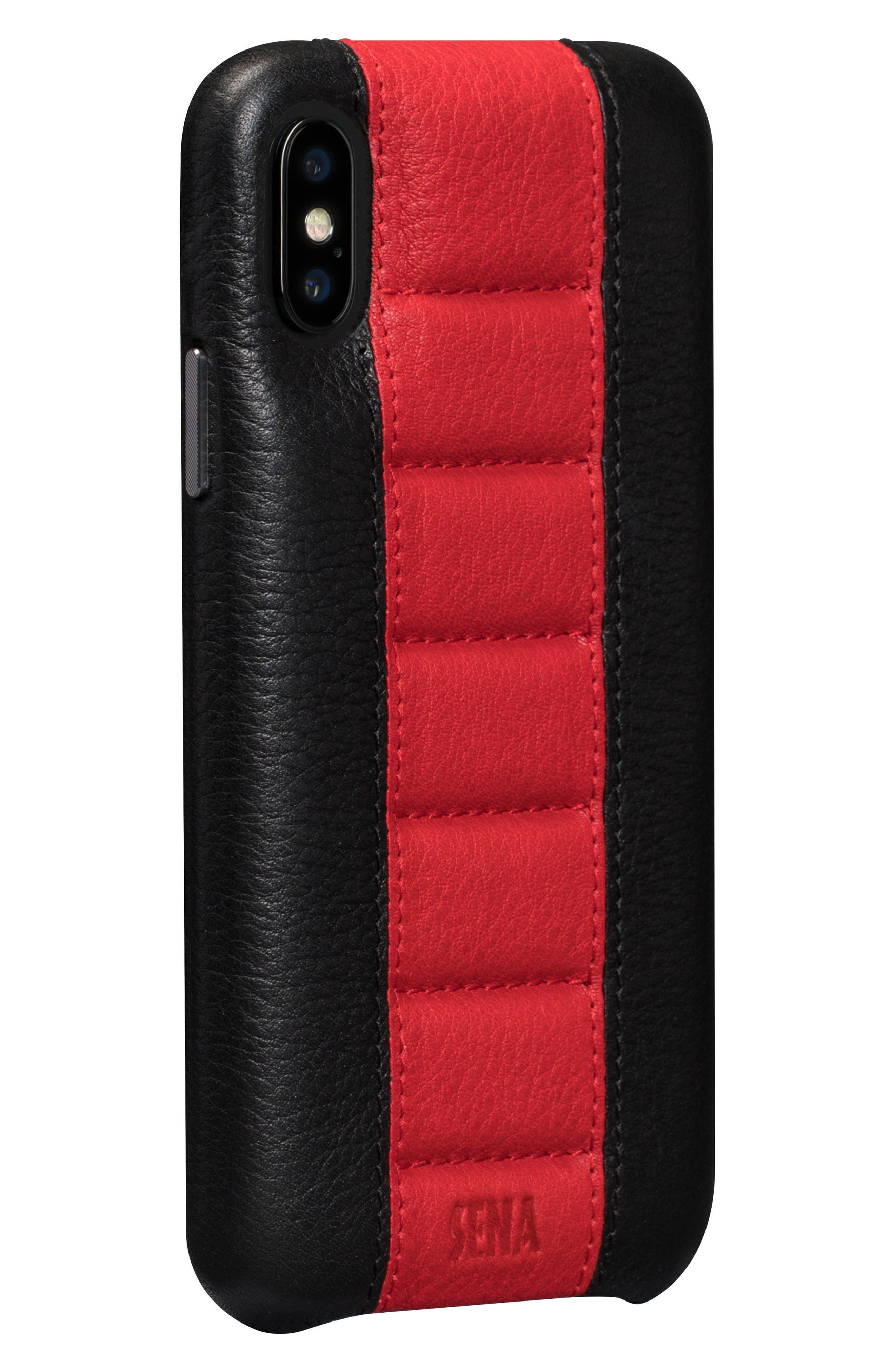 Racer iPhone X Case,                             Main thumbnail 1, color,                             Black/ Red