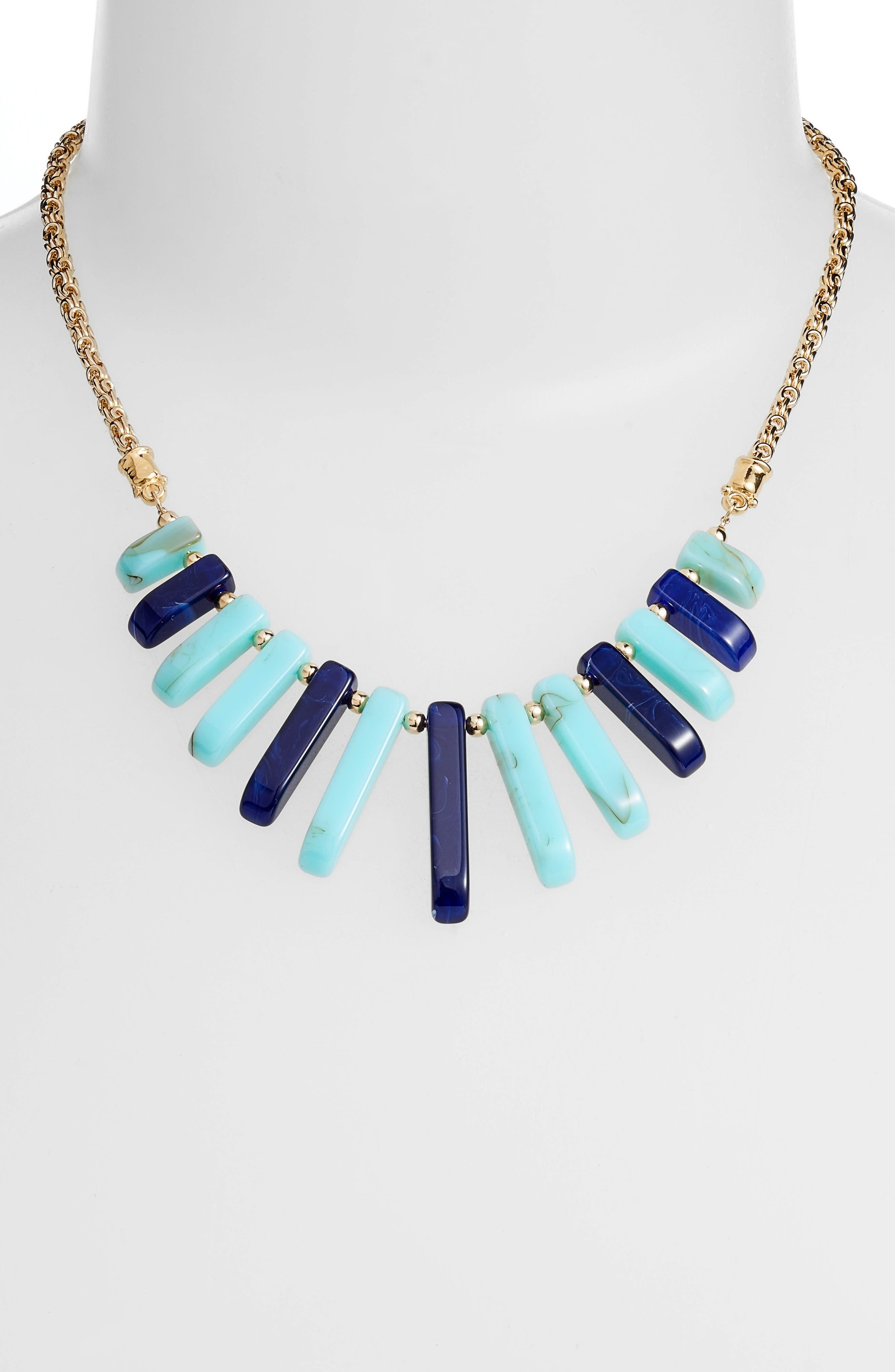 Cascade Bib Necklace,                             Alternate thumbnail 2, color,                             Blue