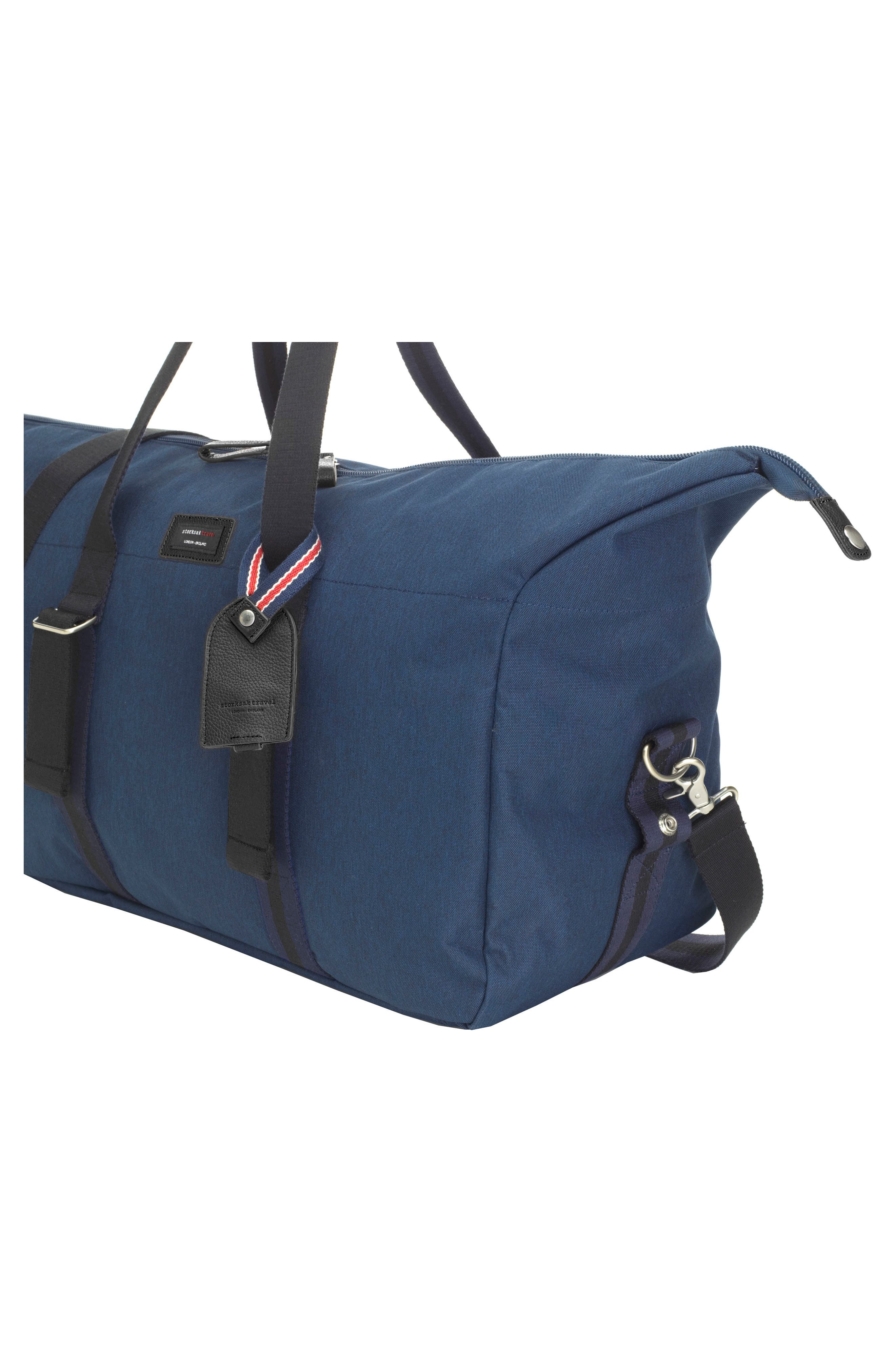 Cabin Wheeled Carry-On with Hanging Organizer,                             Alternate thumbnail 6, color,                             Navy