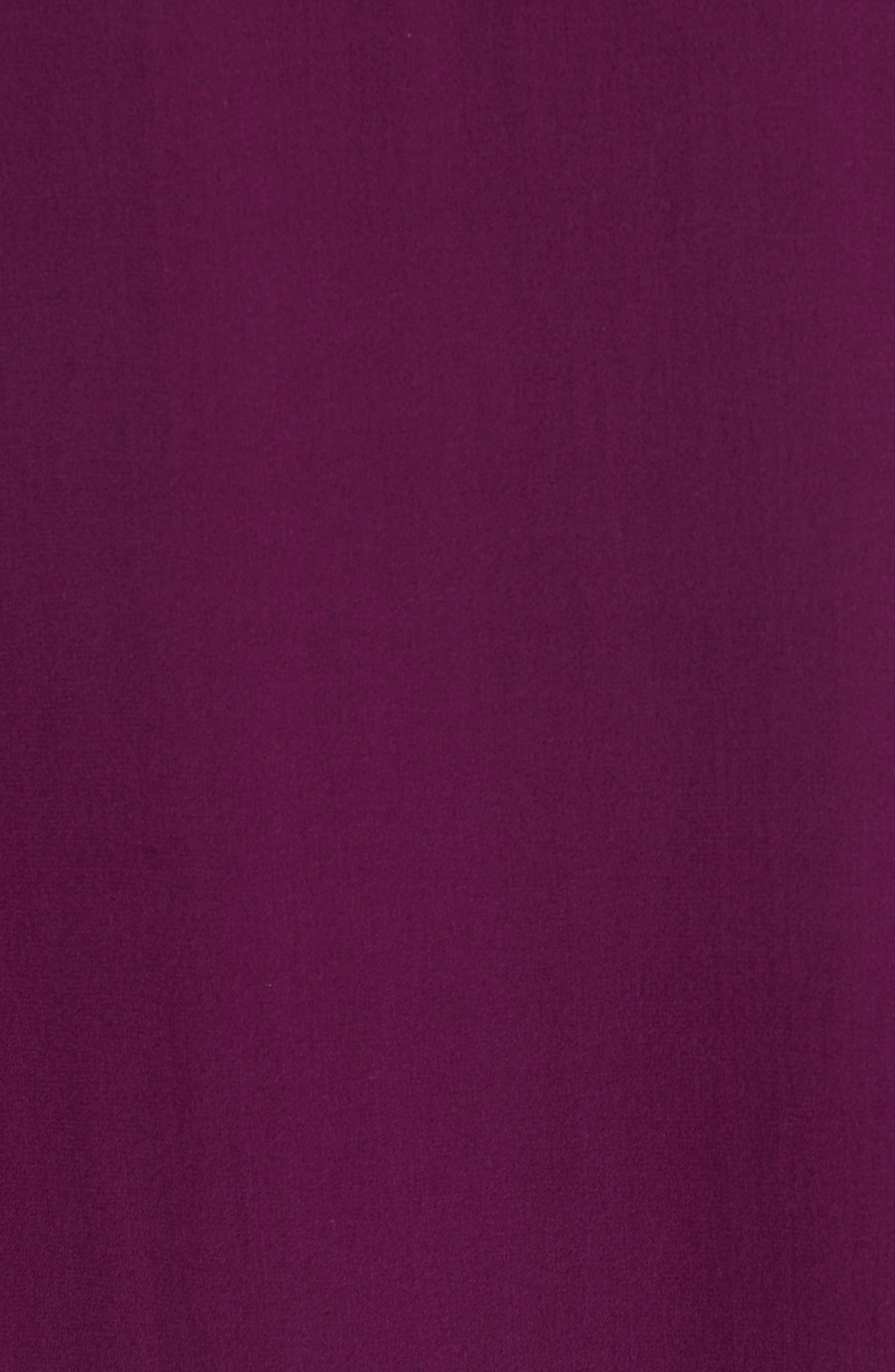 Sheer Silk Georgette Top,                             Alternate thumbnail 5, color,                             Boysenberry