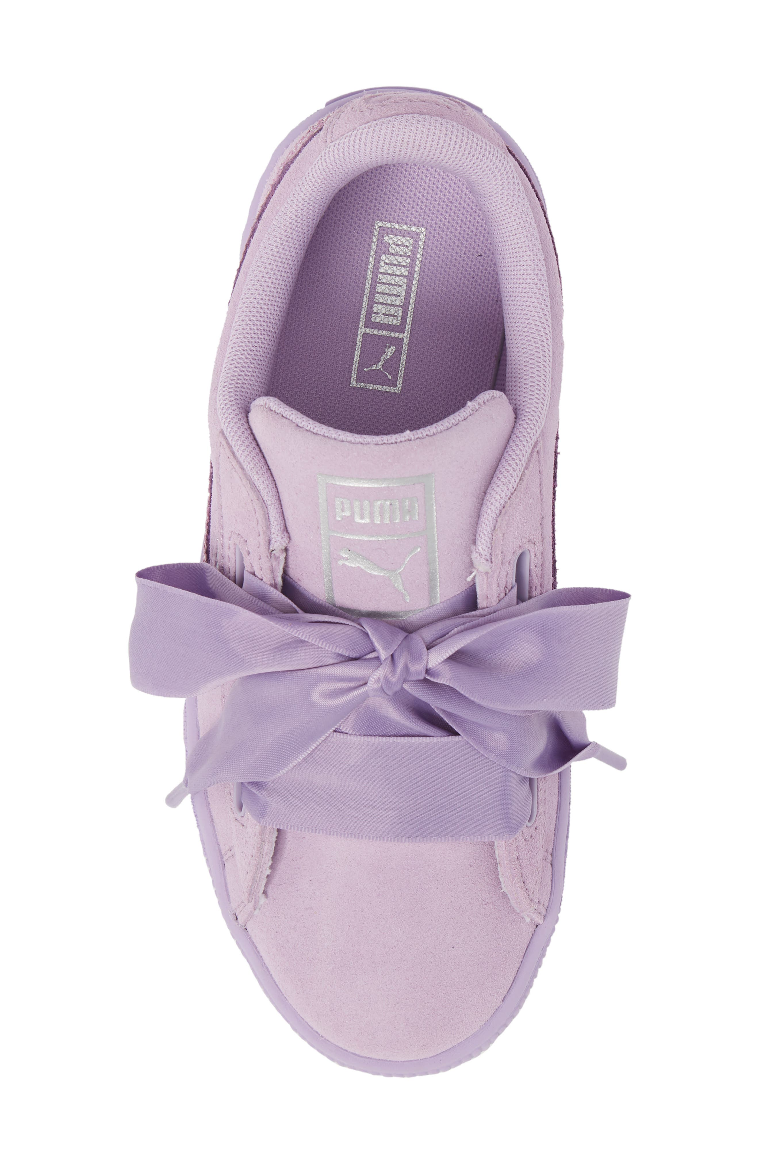 Basket Heart Glitz Sneaker,                             Alternate thumbnail 5, color,                             Purple Haze/ Silver