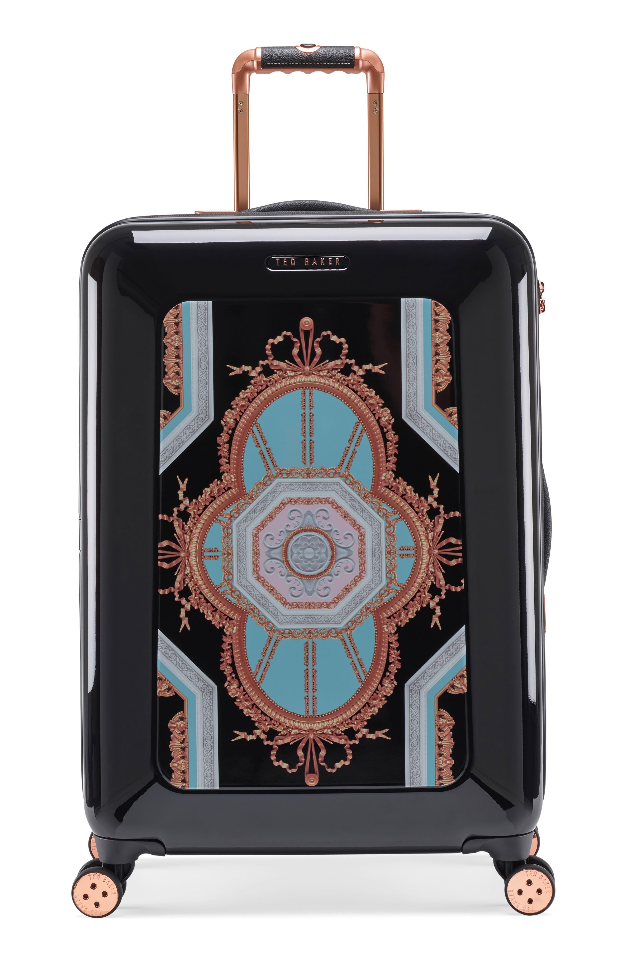 Medium Versailles 27-Inch Hard Shell Spinner Suitcase,                             Main thumbnail 1, color,                             Black