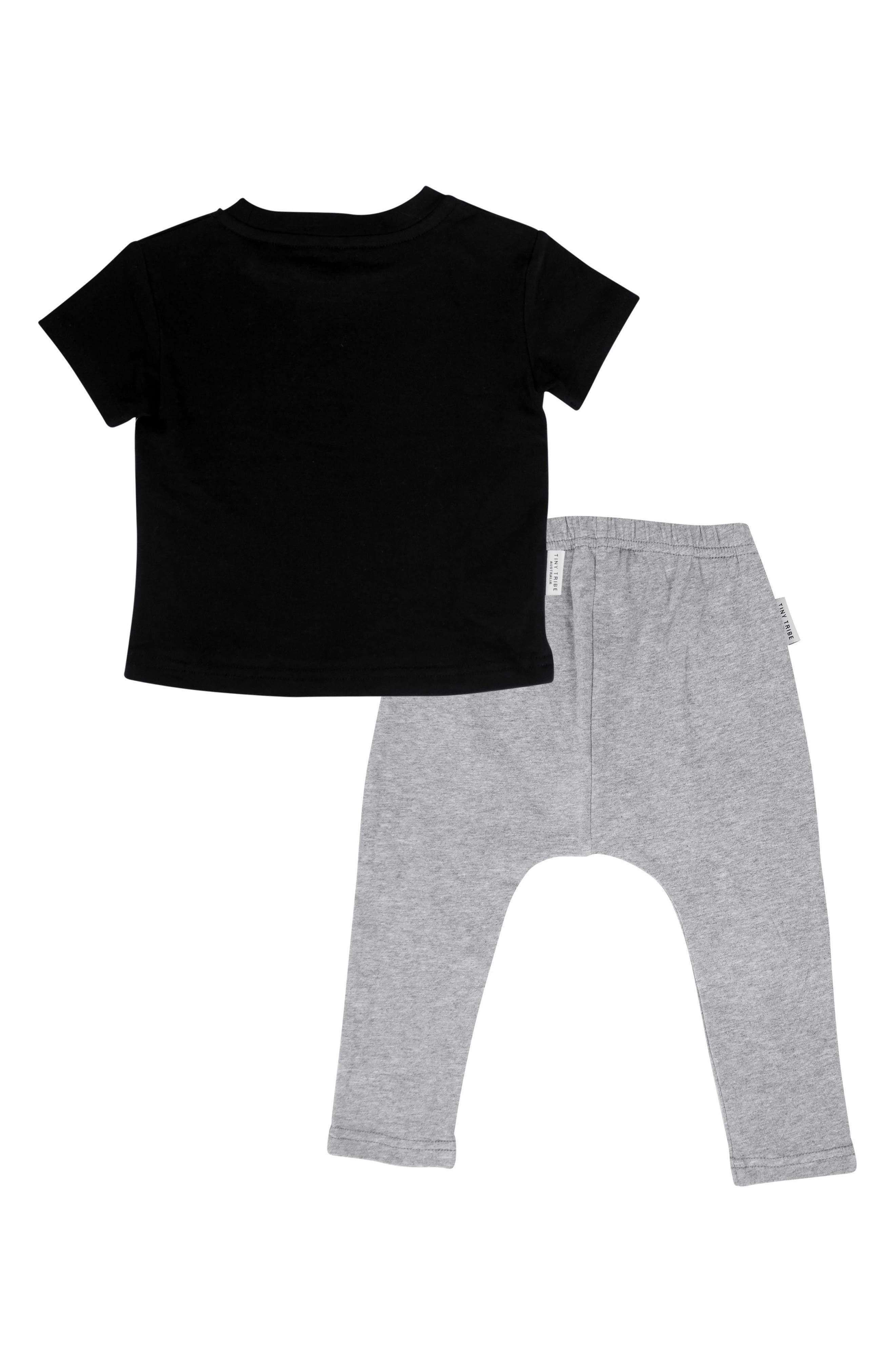 Electric Shirt & Legging Set,                             Alternate thumbnail 2, color,                             Black/ Grey