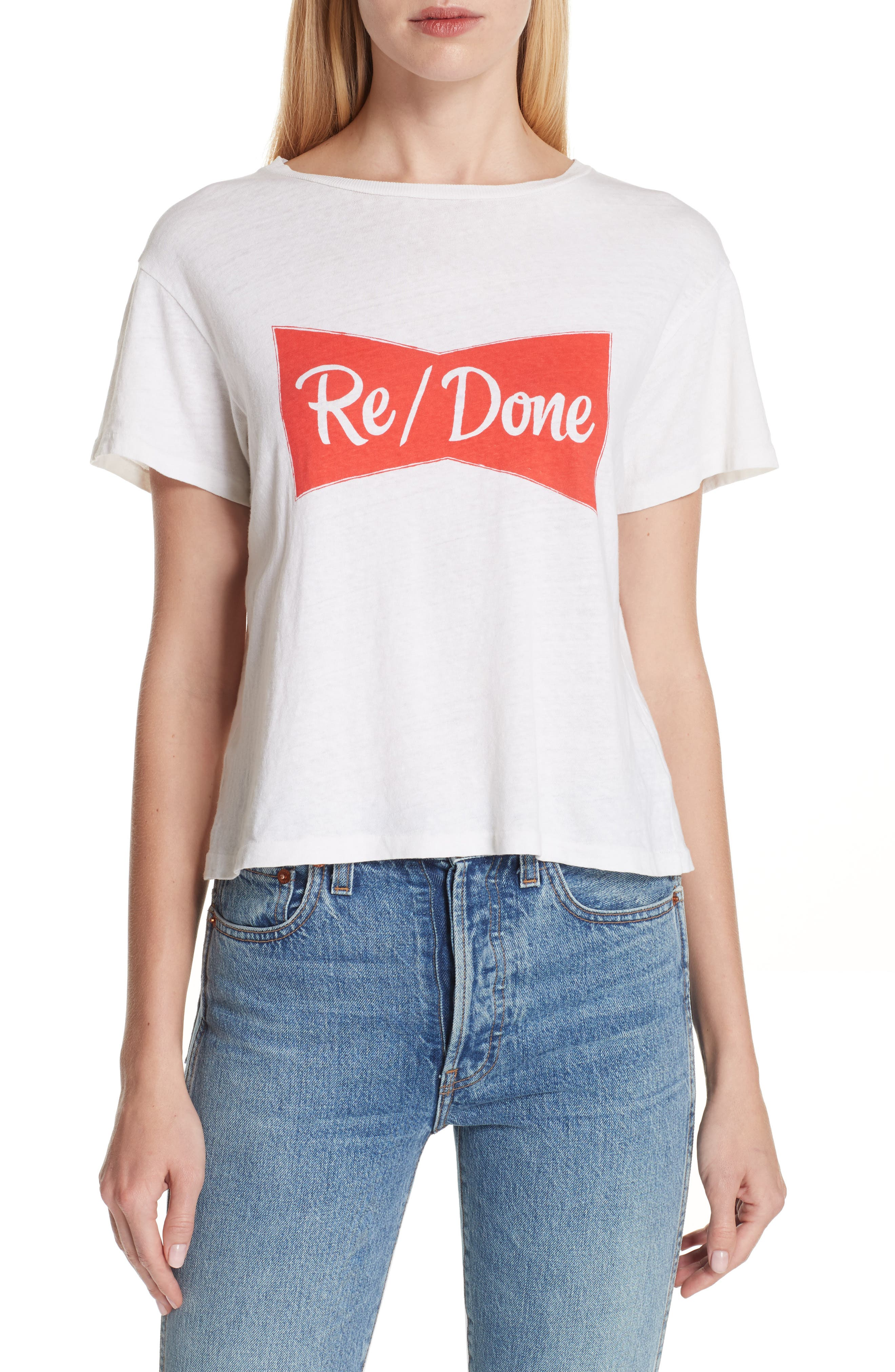 Ribbon Graphic Tee by Re/Done