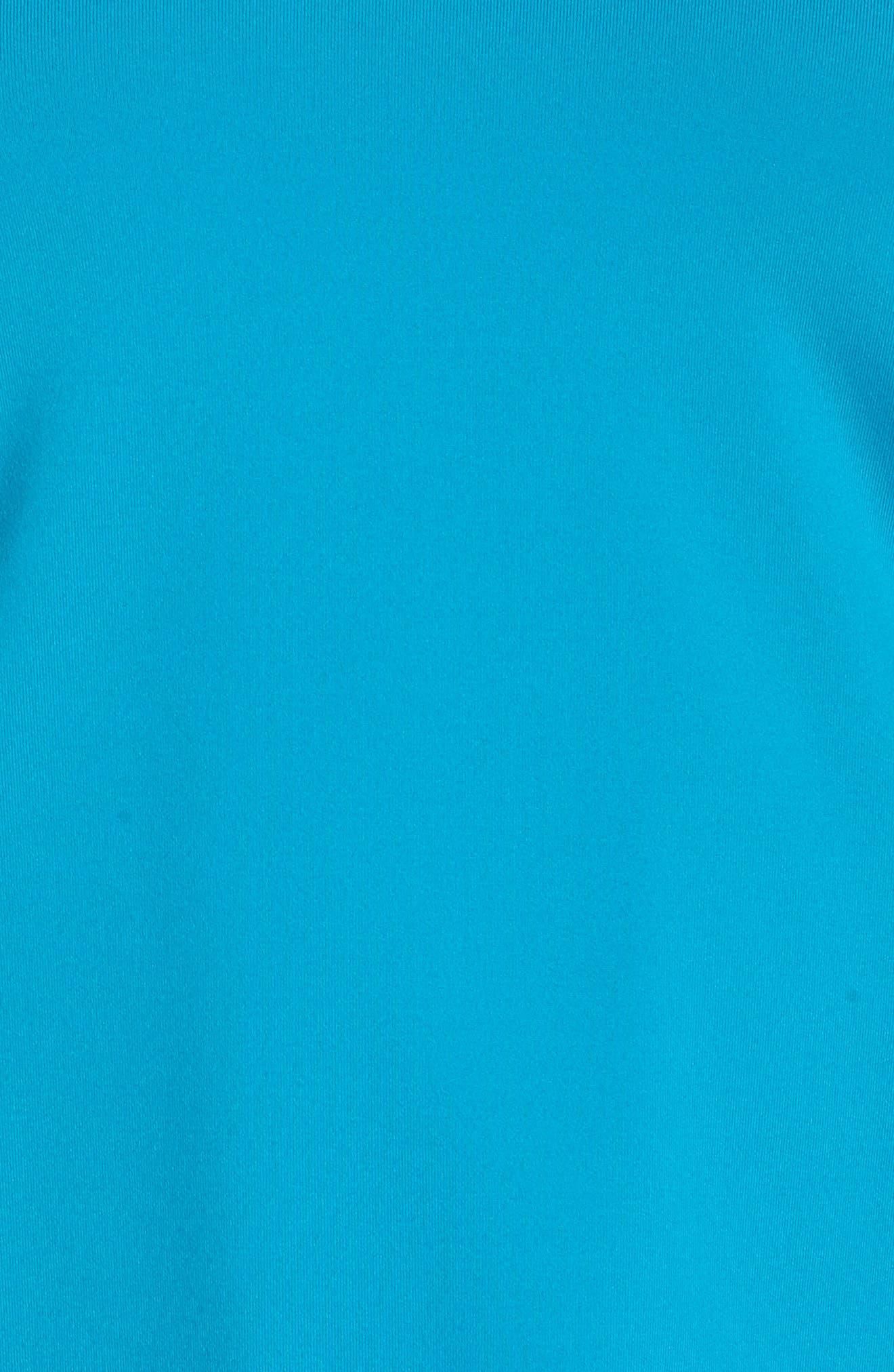 'Pure' Dri-FIT Racerback Tank,                             Alternate thumbnail 6, color,                             Neo Turquoise/ White