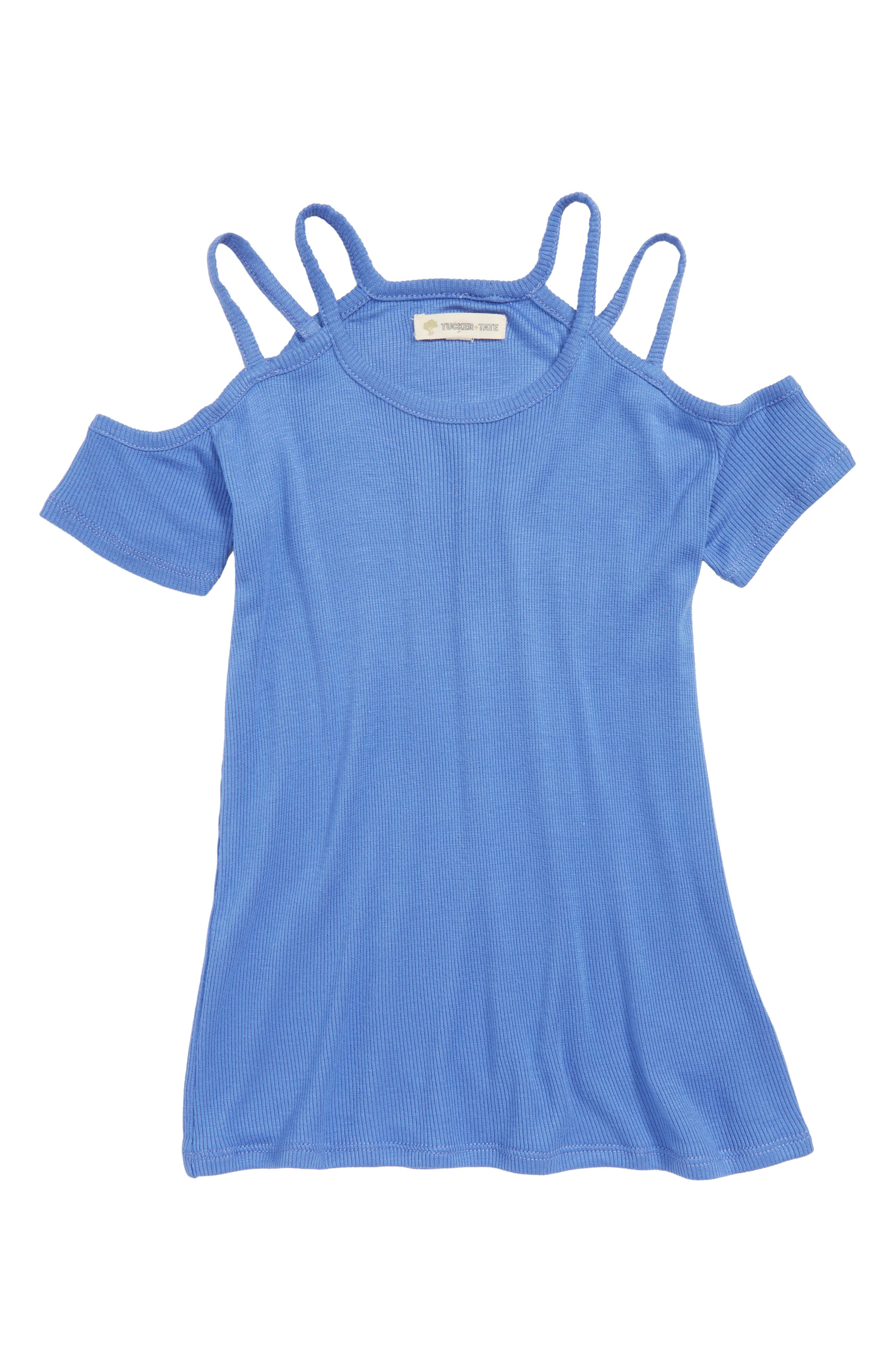 Tucker + Tate Strappy Cold Shoulder Tee (Big Girls)