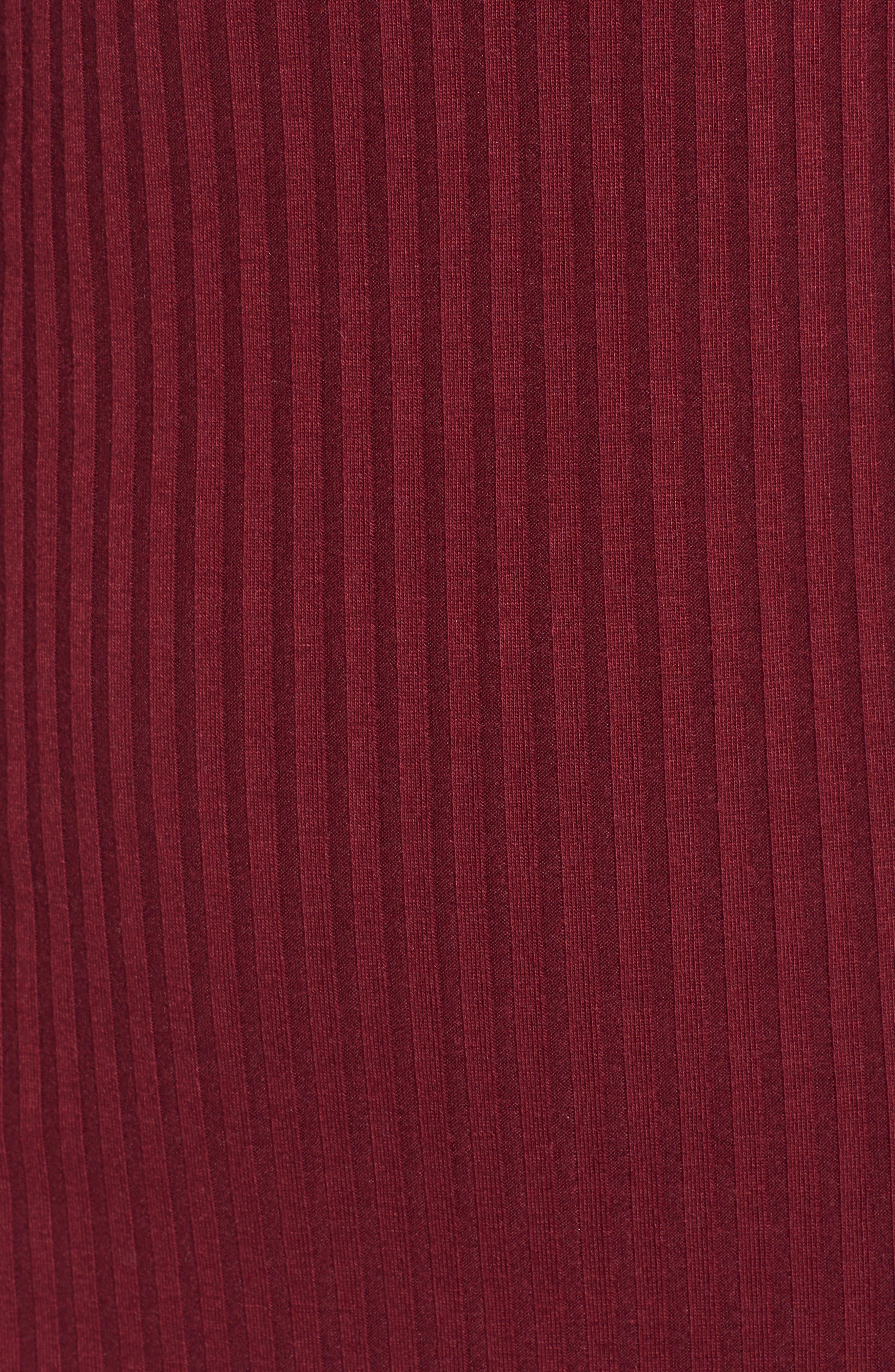 Hannah Dress,                             Alternate thumbnail 6, color,                             Wine