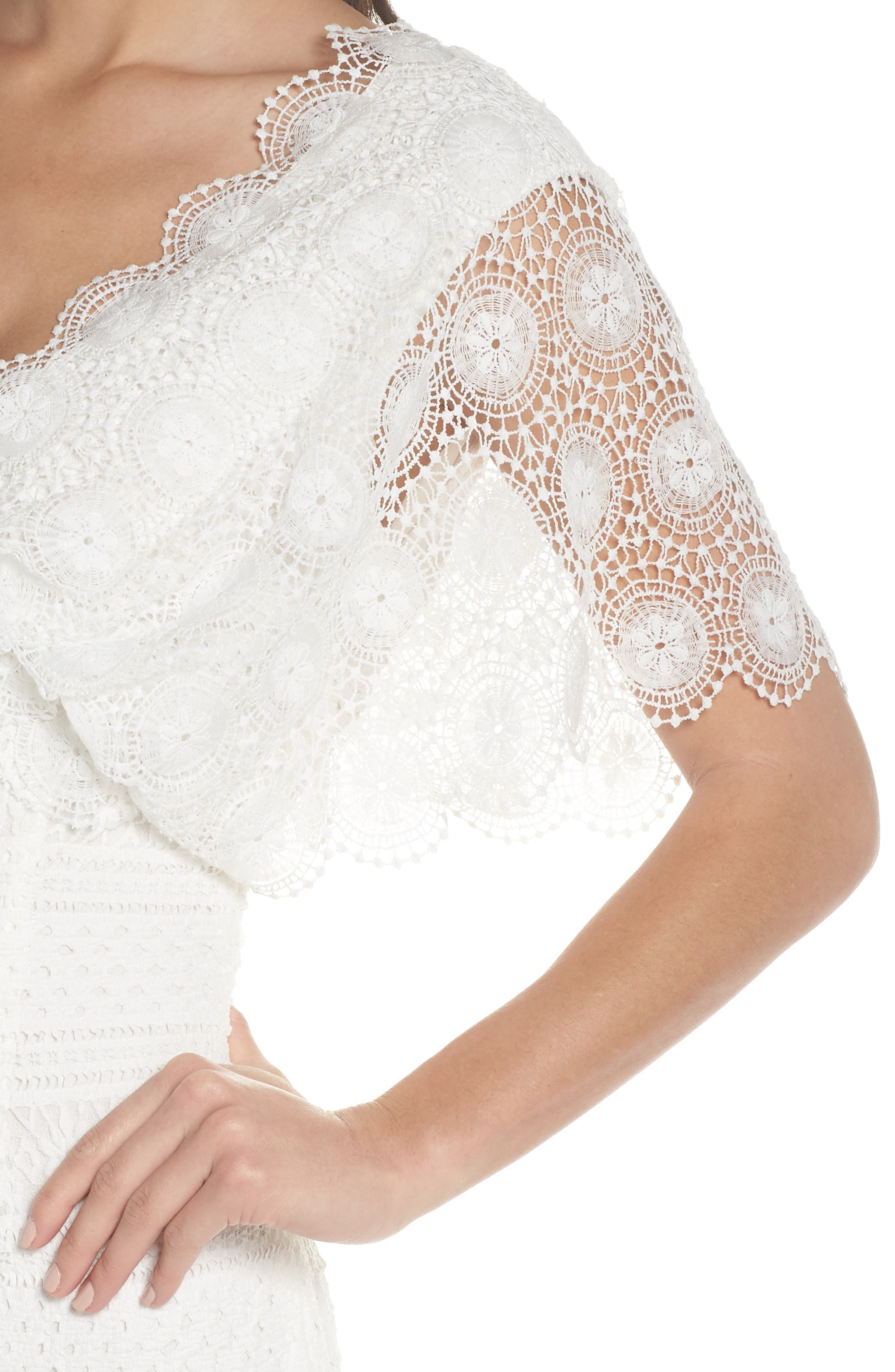 Mavis Scalloped Lace Dress,                             Alternate thumbnail 5, color,                             Off White