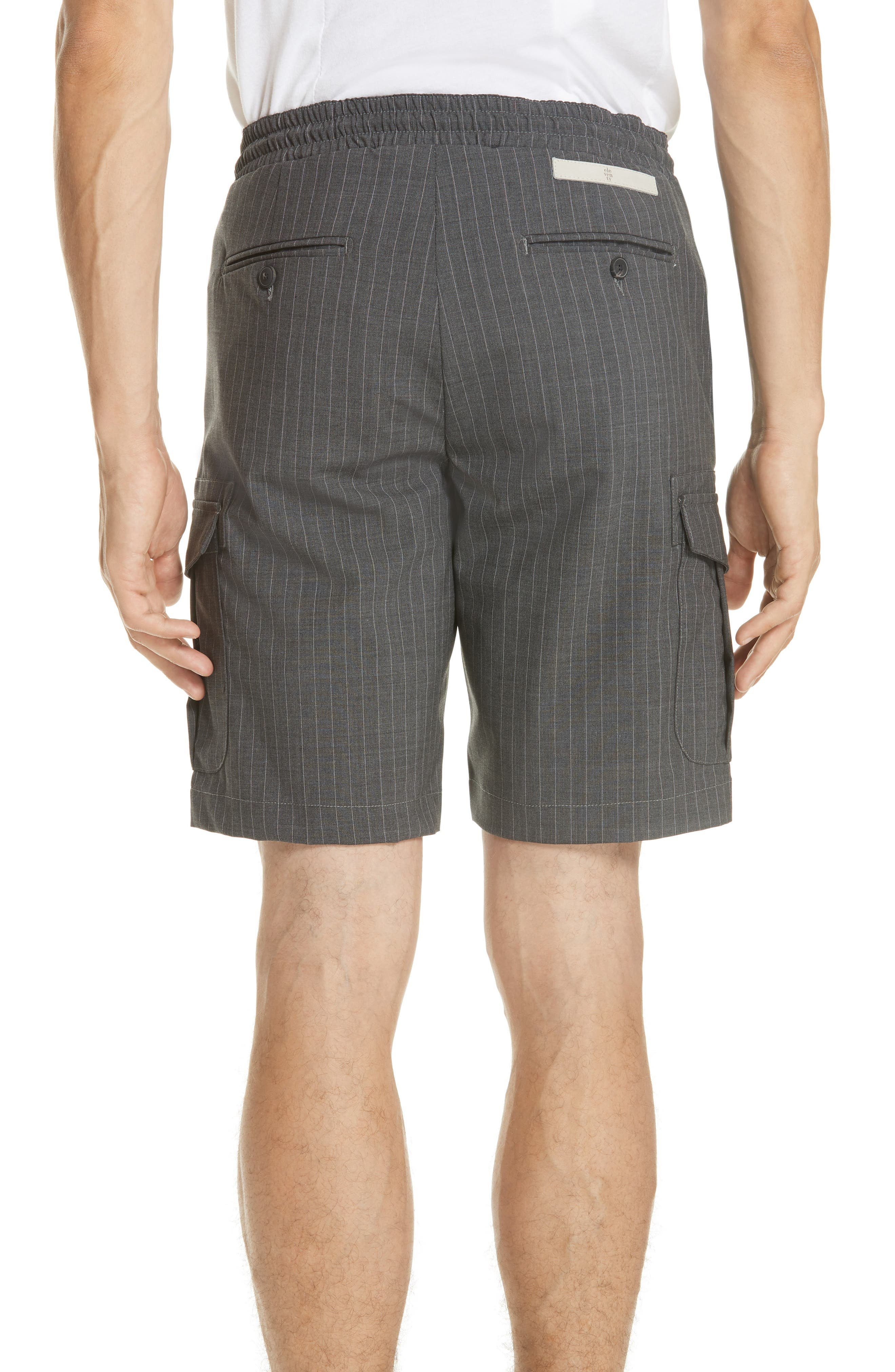 Stretch Wool Cargo Shorts,                             Alternate thumbnail 2, color,                             Dark Grey