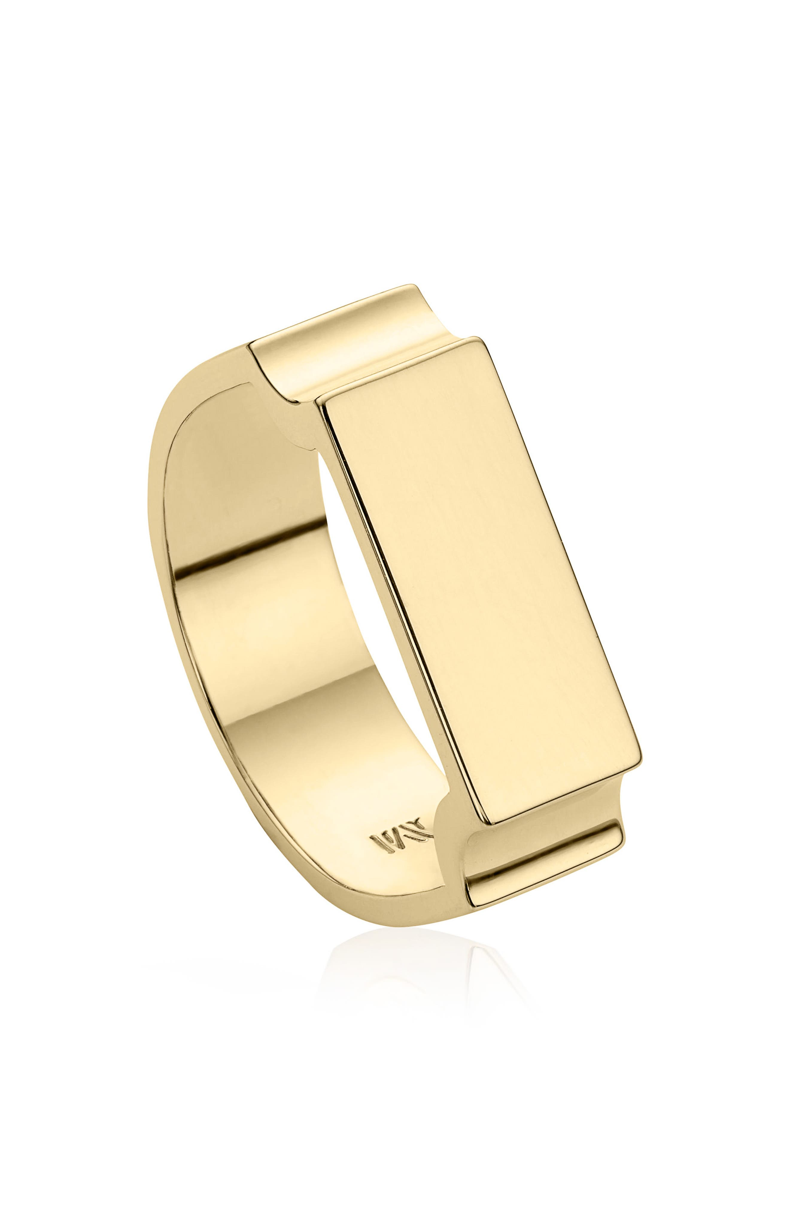 Monica Vinader Wide Signature Ring