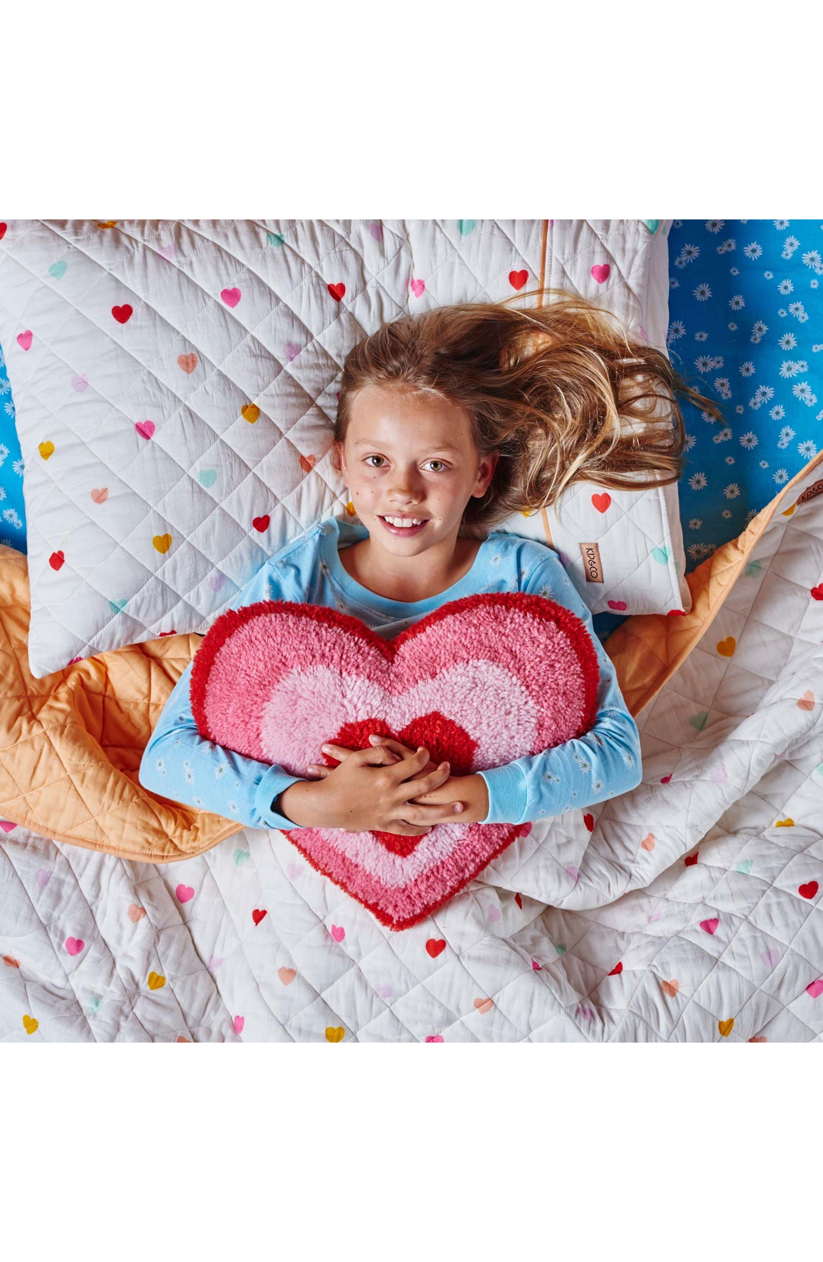 I Heart You Quilted Cotton Comforter,                             Alternate thumbnail 4, color,                             Multi