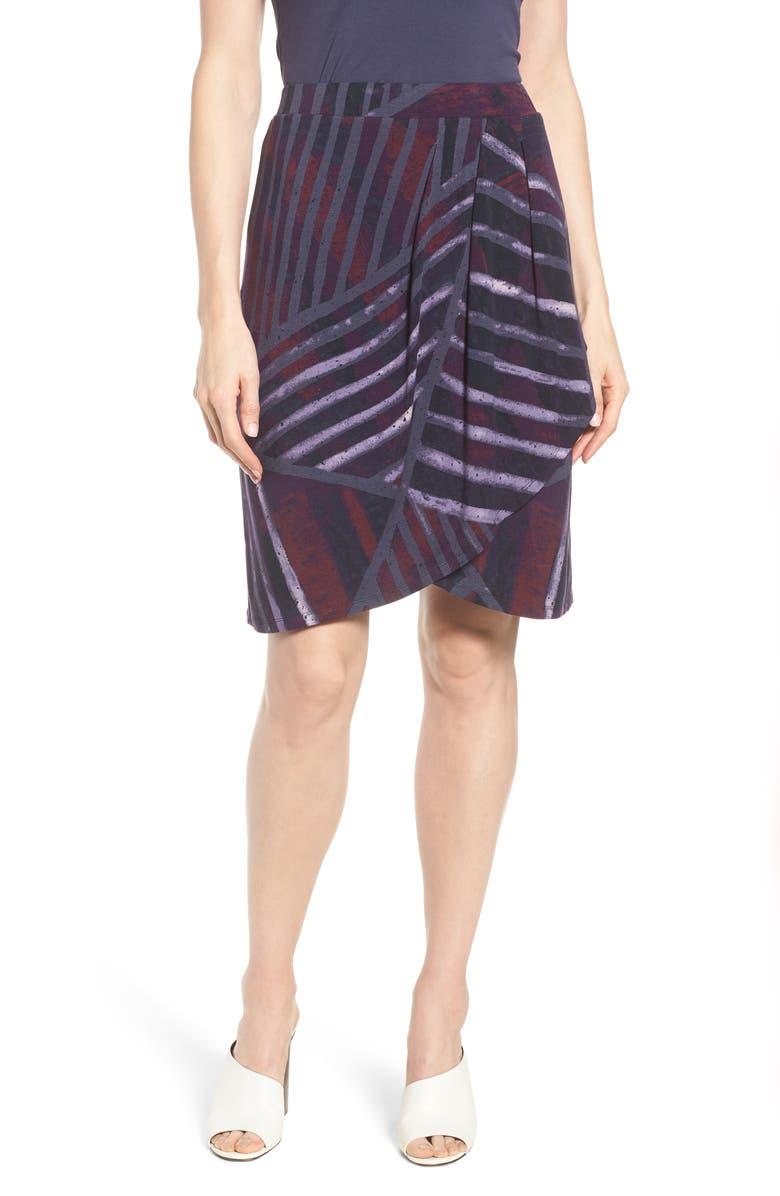 Cityscape Faux Wrap Skirt