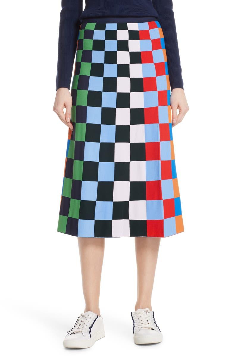 Check Tech Knit Skirt