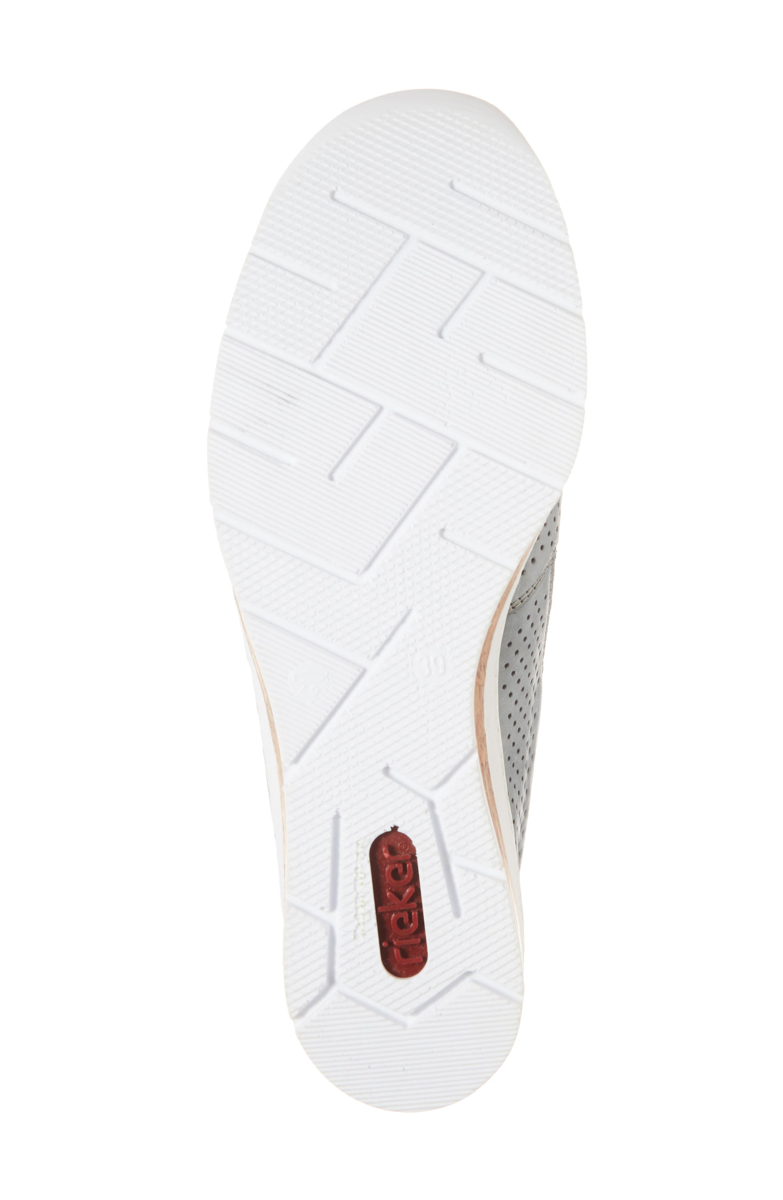 Doris 75 Wedge Sneaker,                             Alternate thumbnail 6, color,                             Royal Faux Leather