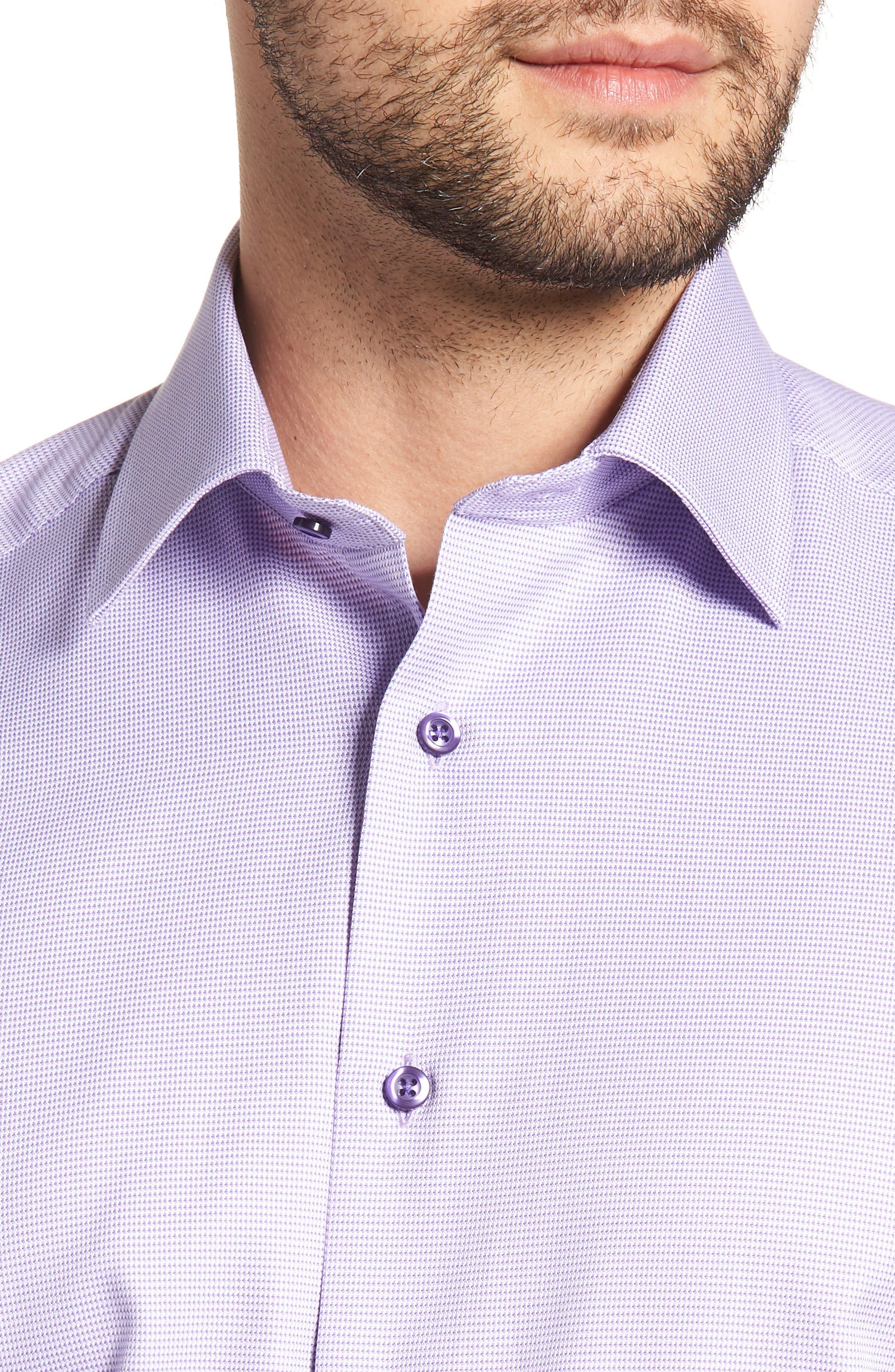 Regular Fit Solid Dress Shirt,                             Alternate thumbnail 2, color,                             Lilac