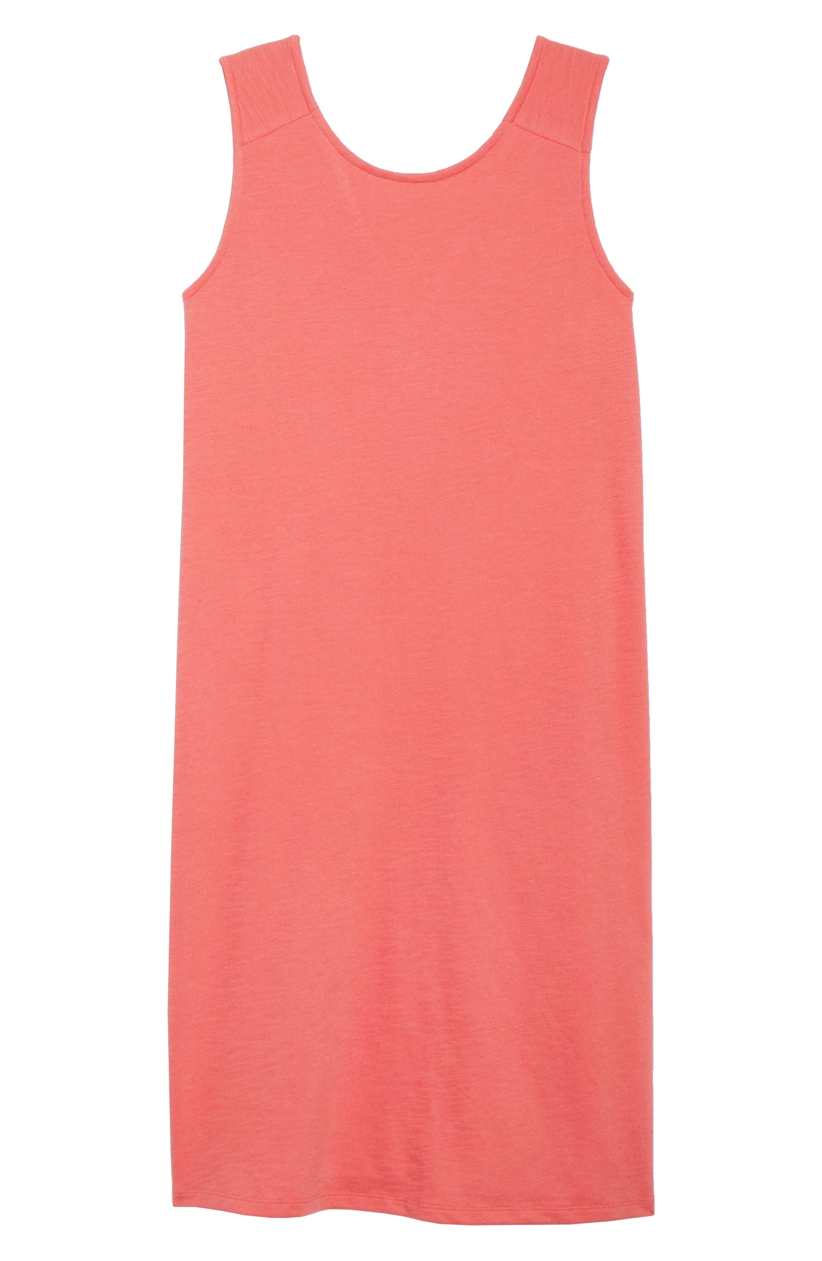 Button Back Knit Dress,                             Alternate thumbnail 7, color,                             Coral Rose