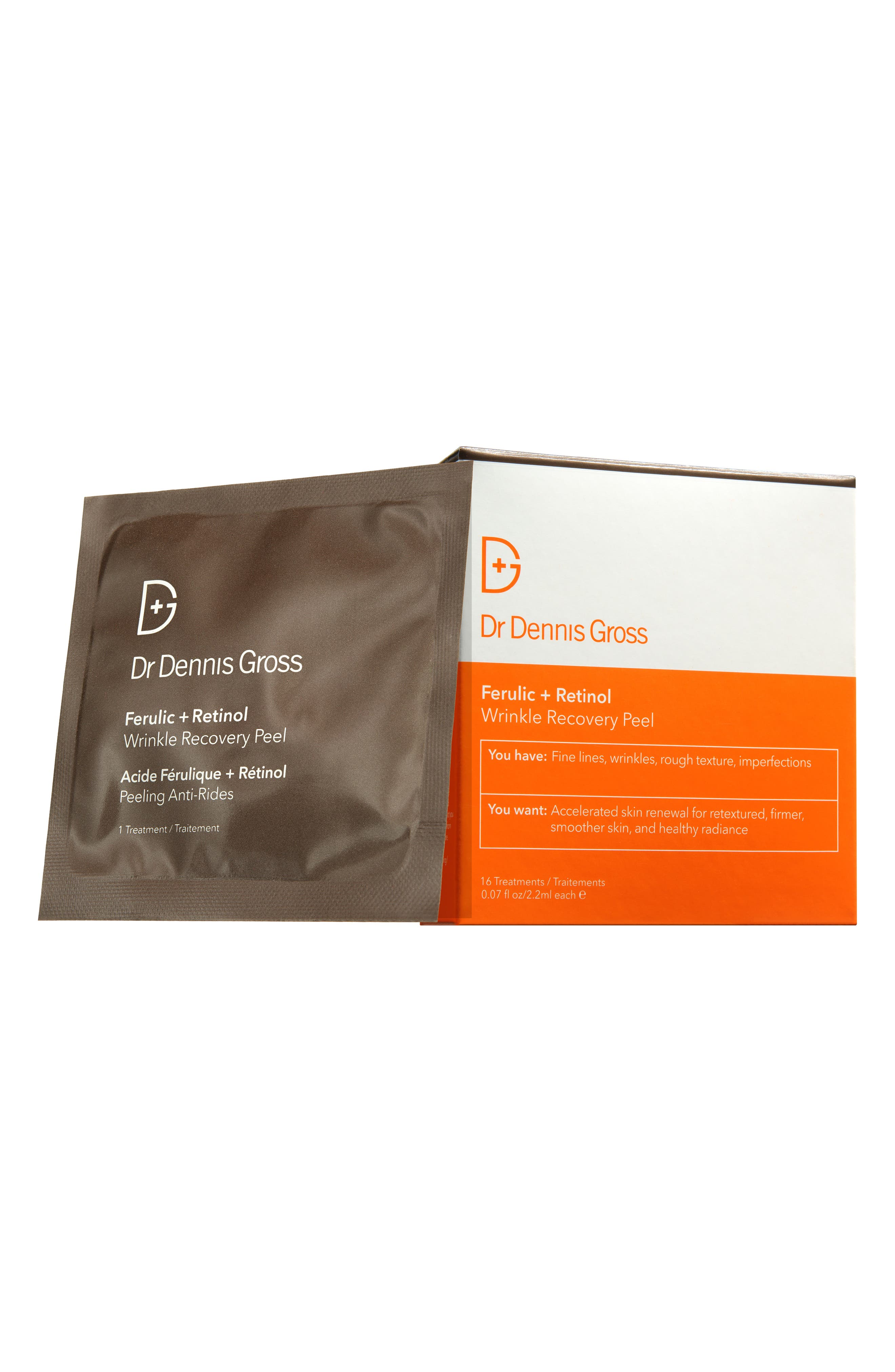 'Ferulic + Retinol' Wrinkle Recovery Peel,                         Main,                         color, No Color