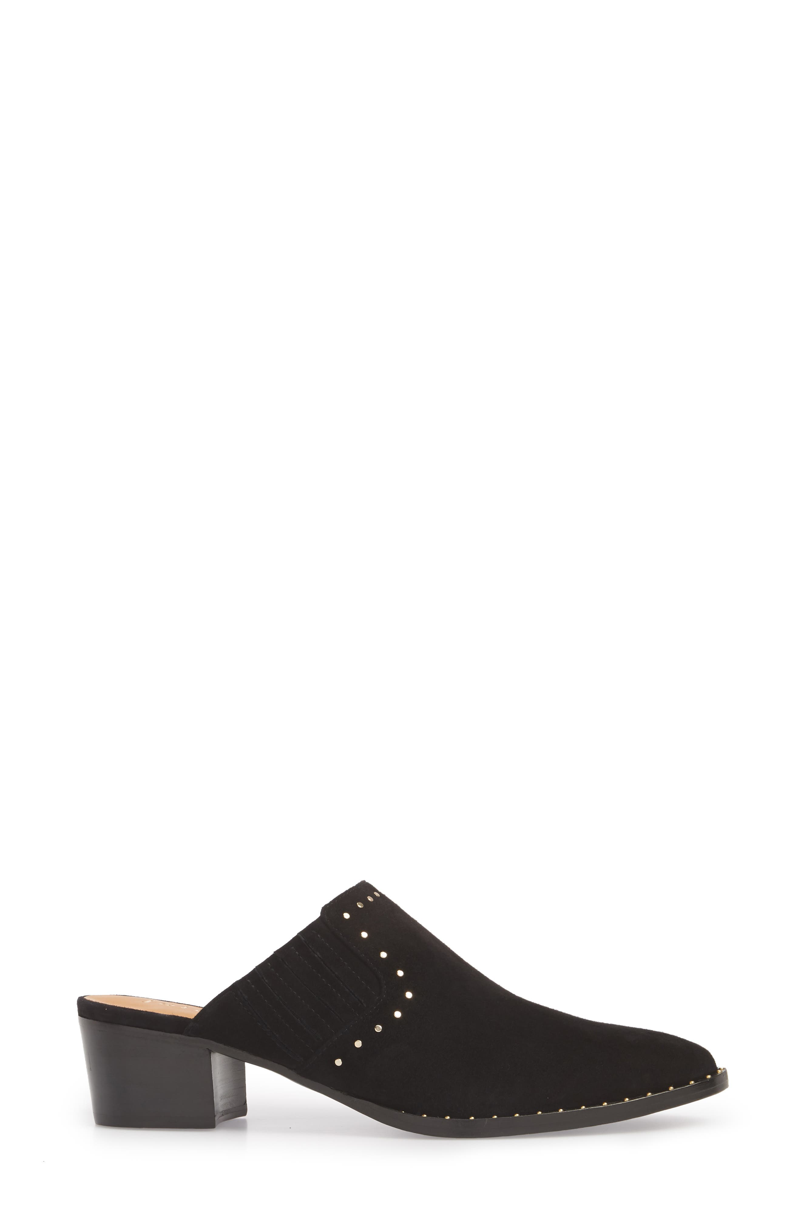 Fayla Studded Mule,                             Alternate thumbnail 3, color,                             Nero