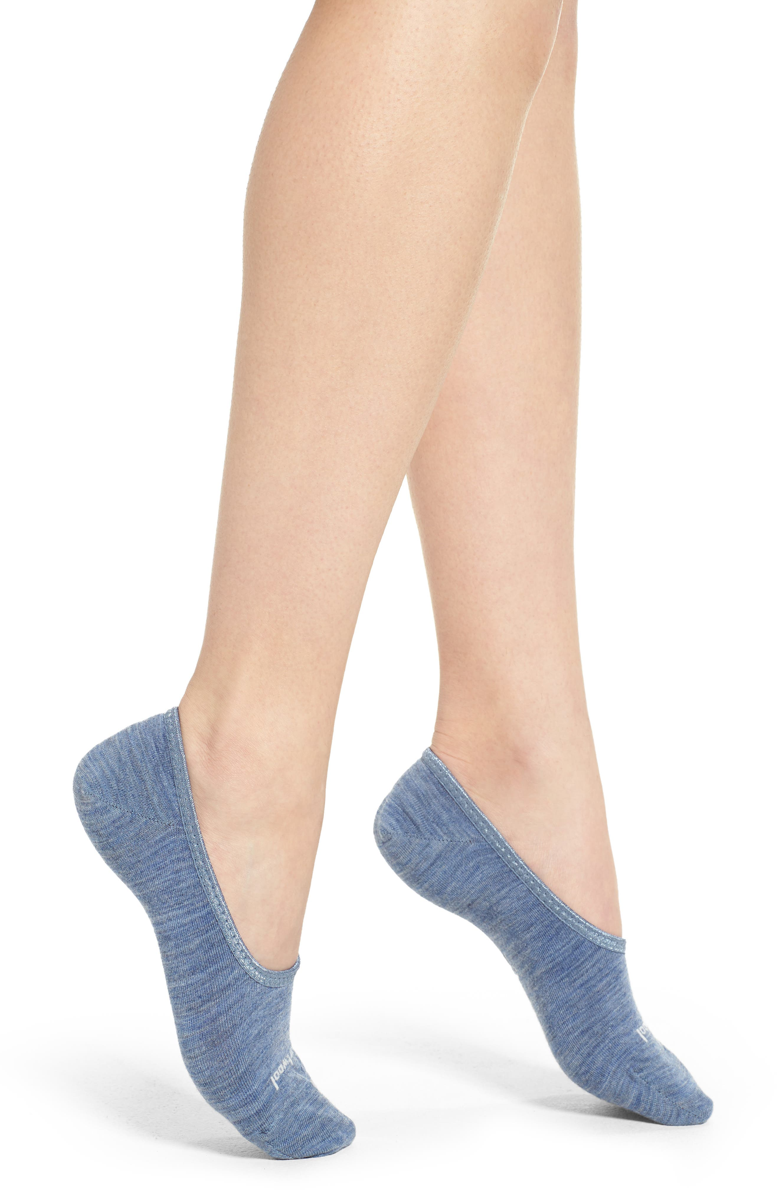 'Hide and Seek' No-Show Socks,                         Main,                         color, Blue Steel
