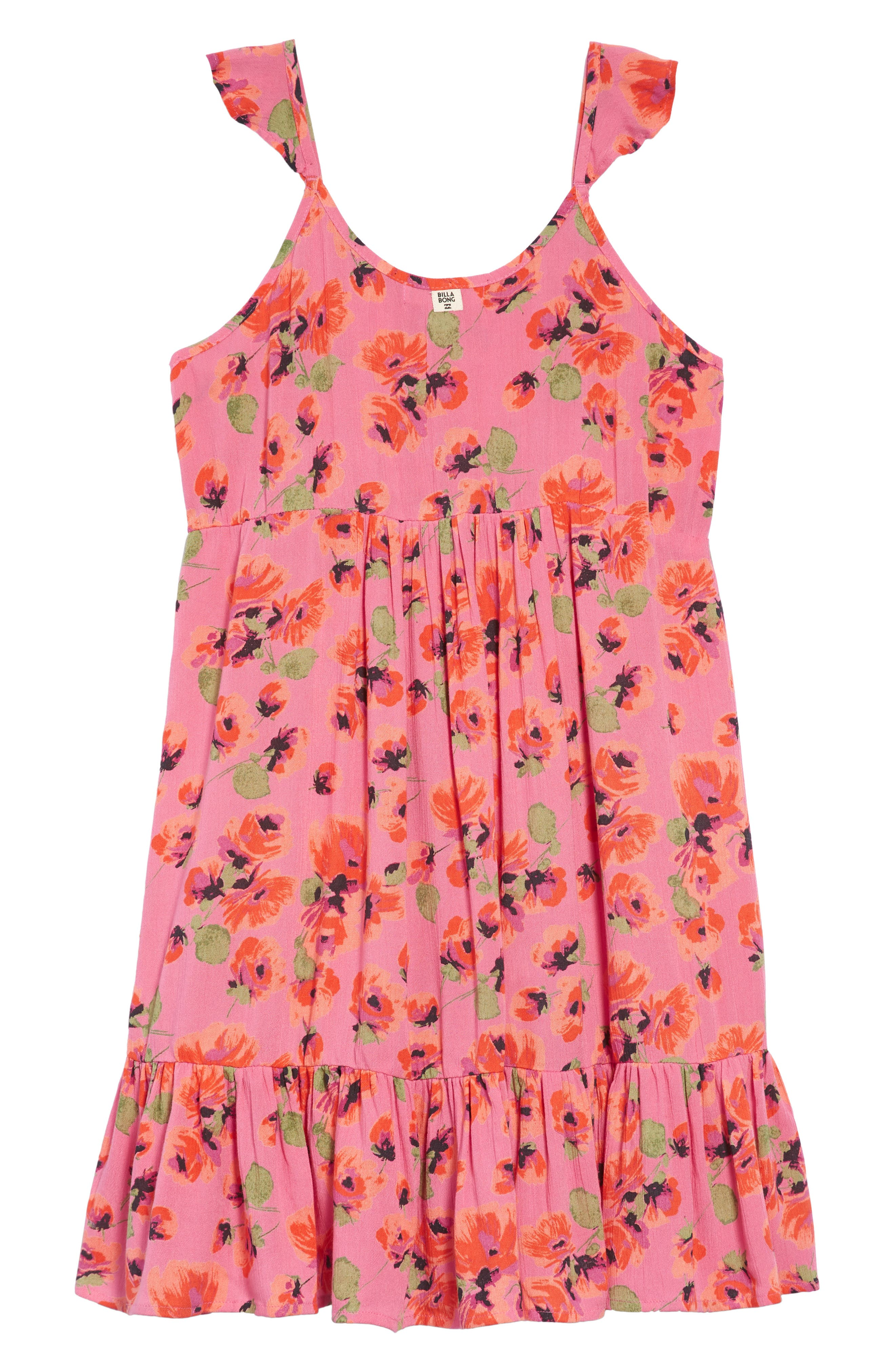 Sundazer Floral Dress,                             Alternate thumbnail 2, color,                             Tahiti Pink