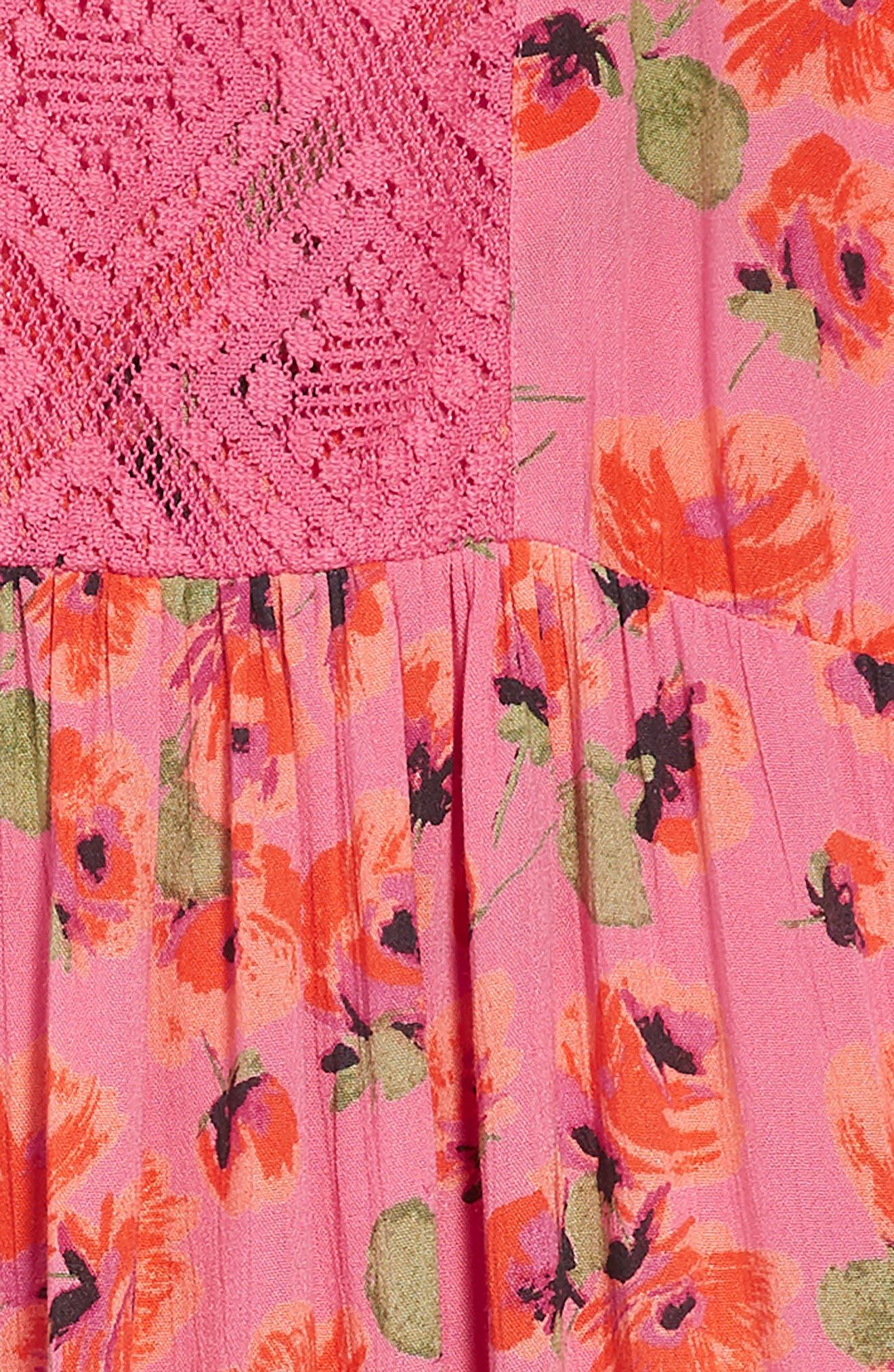 Sundazer Floral Dress,                             Alternate thumbnail 3, color,                             Tahiti Pink