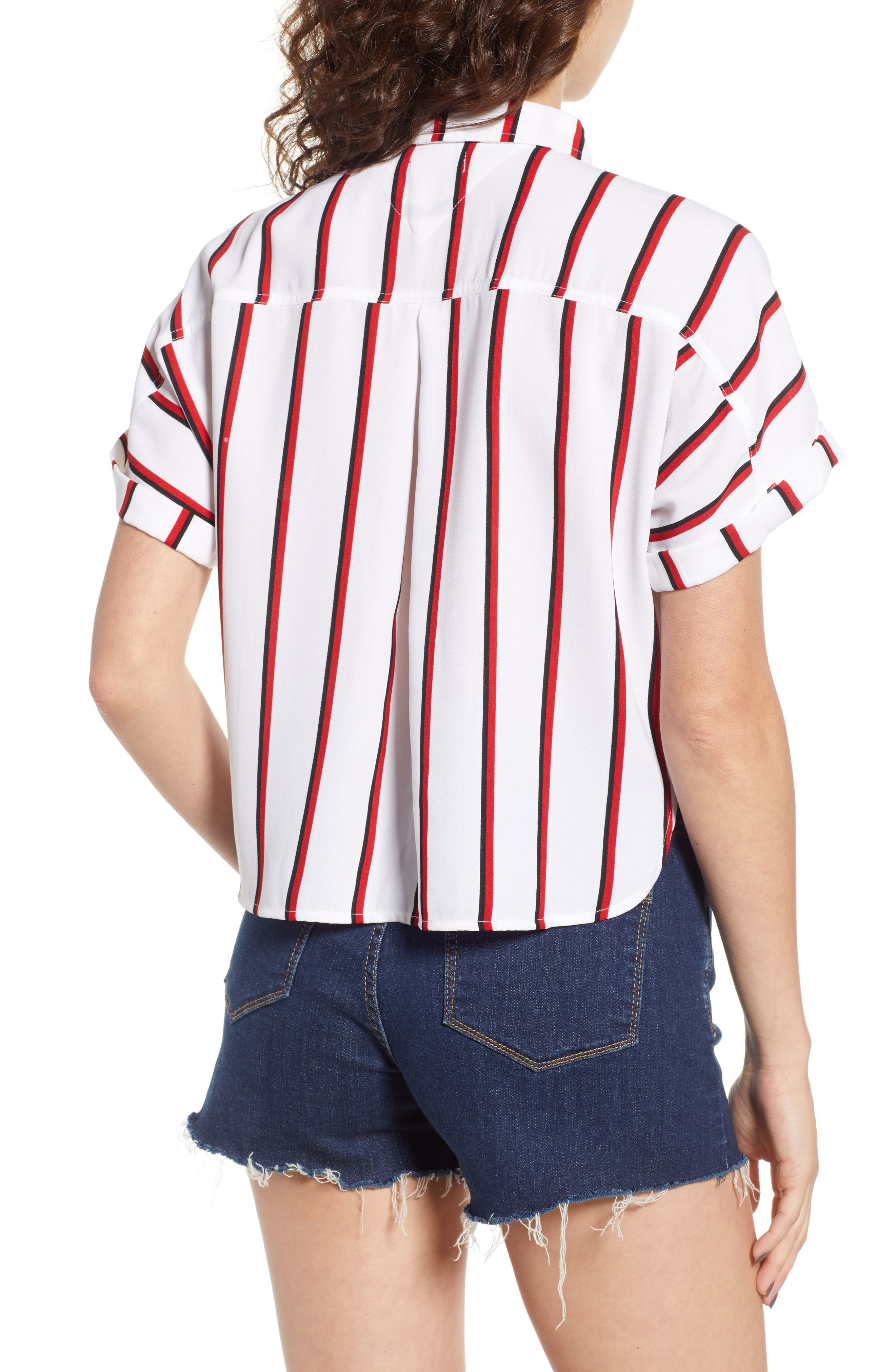 Counting Moons Stripe Top,                             Alternate thumbnail 2, color,                             Chili Red