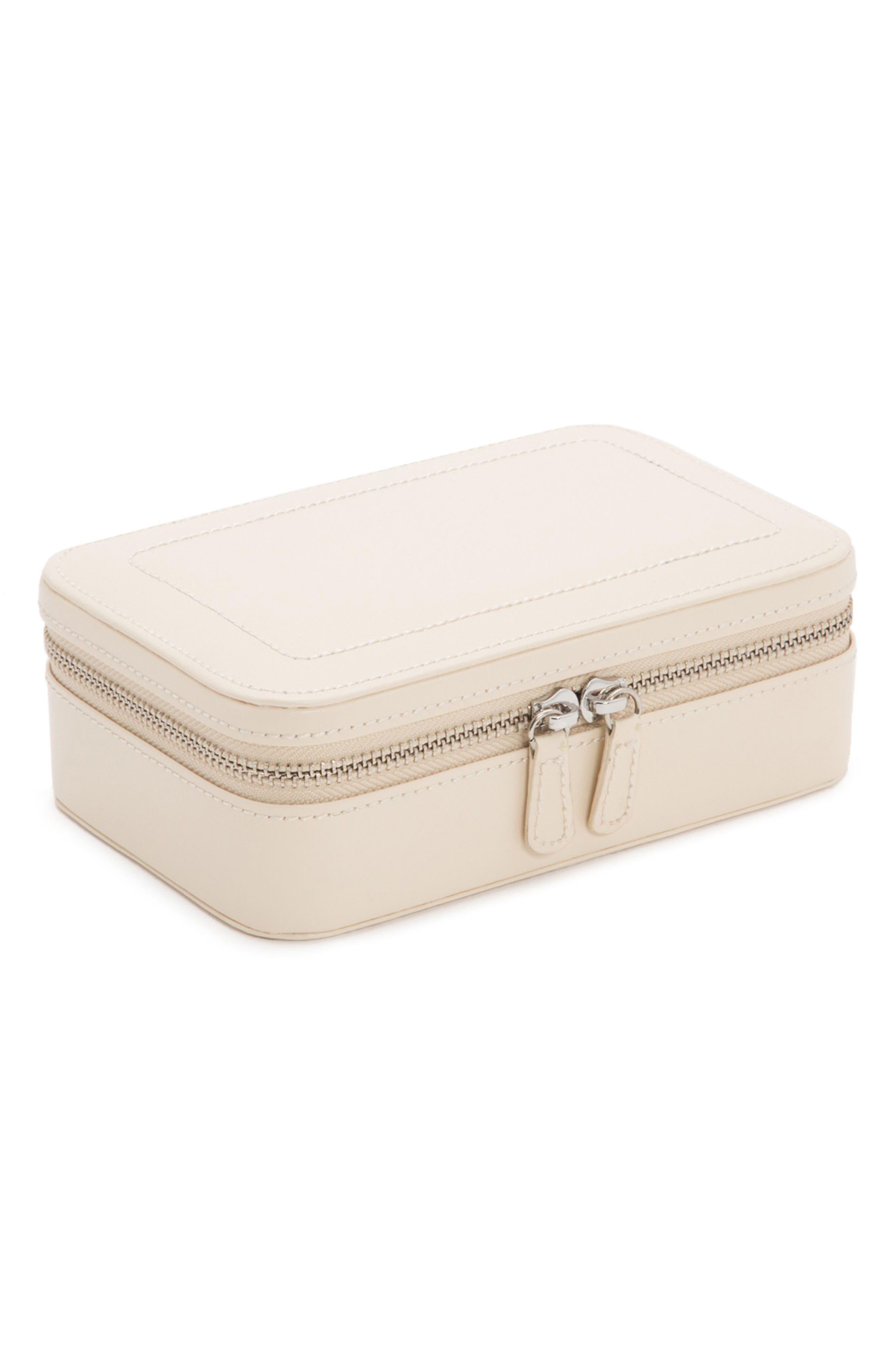 Sophia Rectangle Zip Case,                         Main,                         color, Ivory