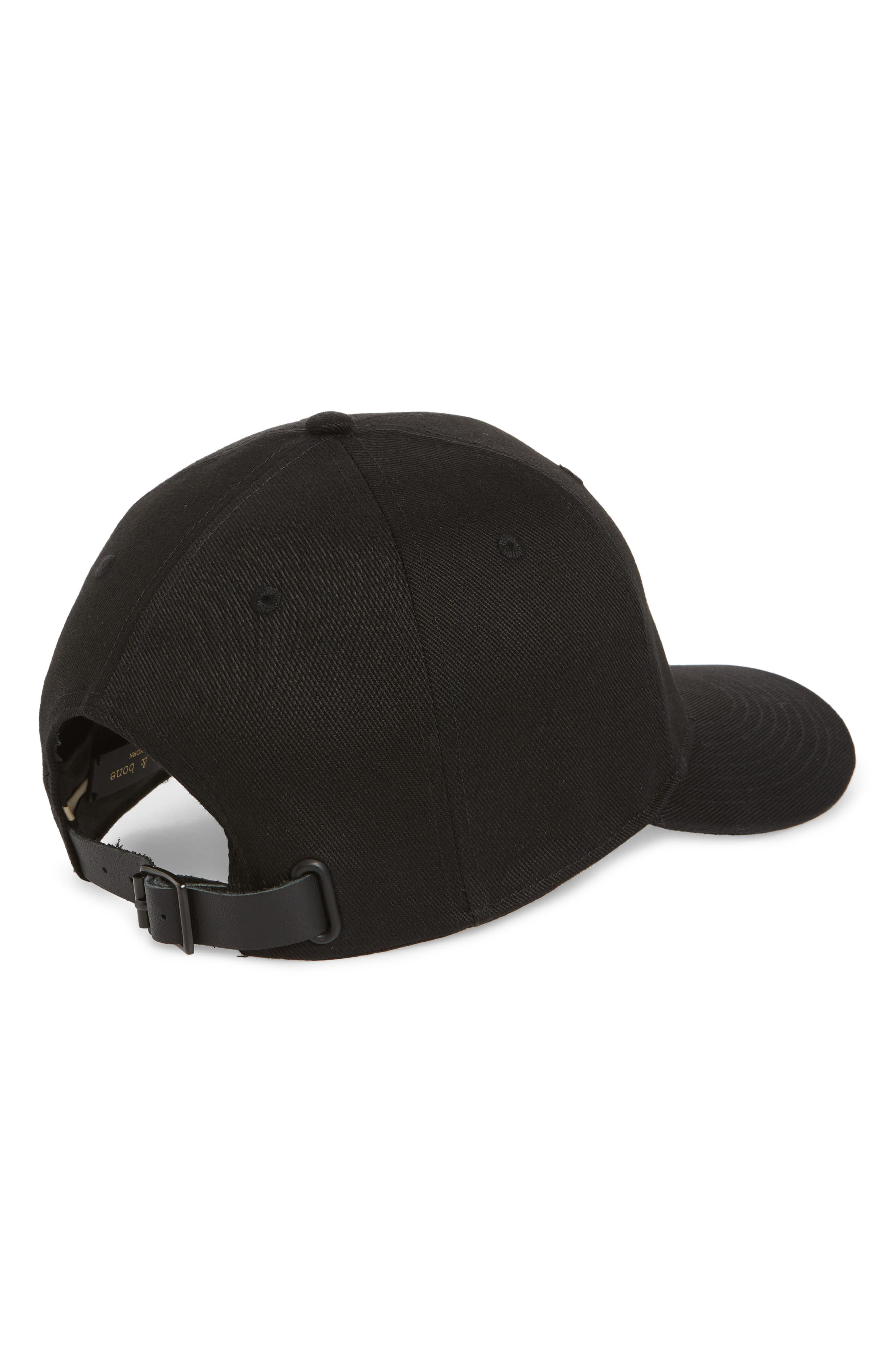 Dylan Ball Cap,                             Alternate thumbnail 2, color,                             Black Twill