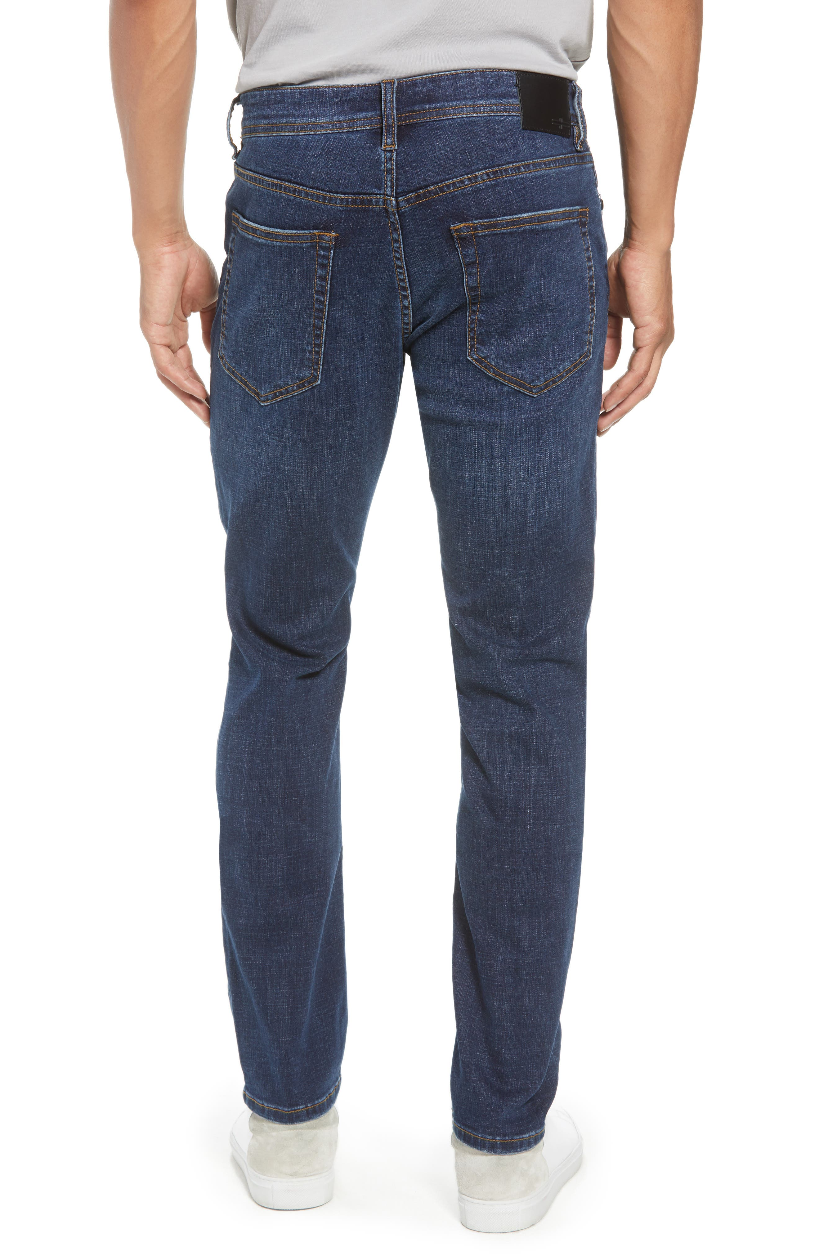 Slim Straight Leg Jeans,                             Alternate thumbnail 2, color,                             Navajo Dark