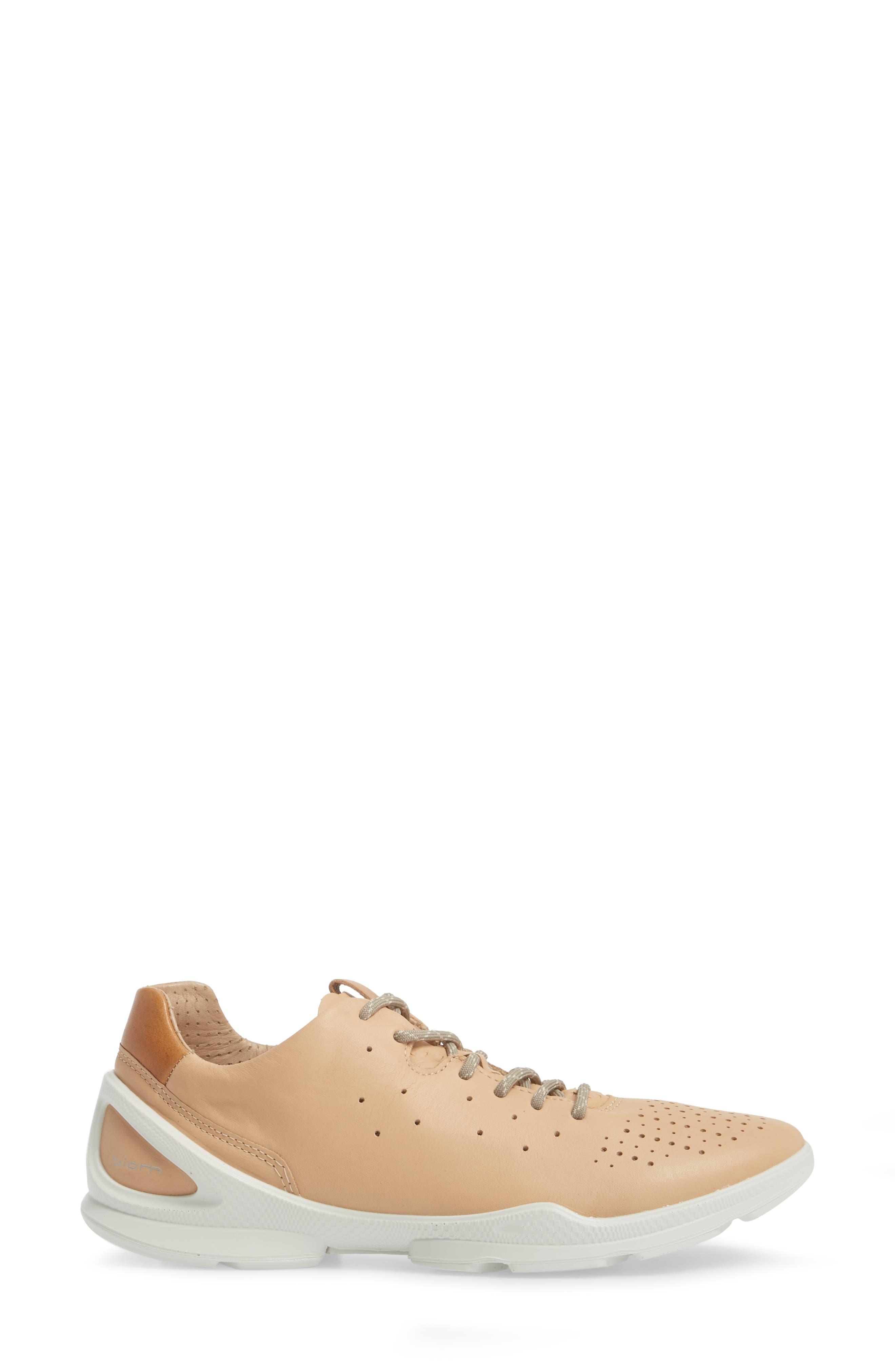 Biom Street Sneaker,                             Alternate thumbnail 3, color,                             Powder Leather