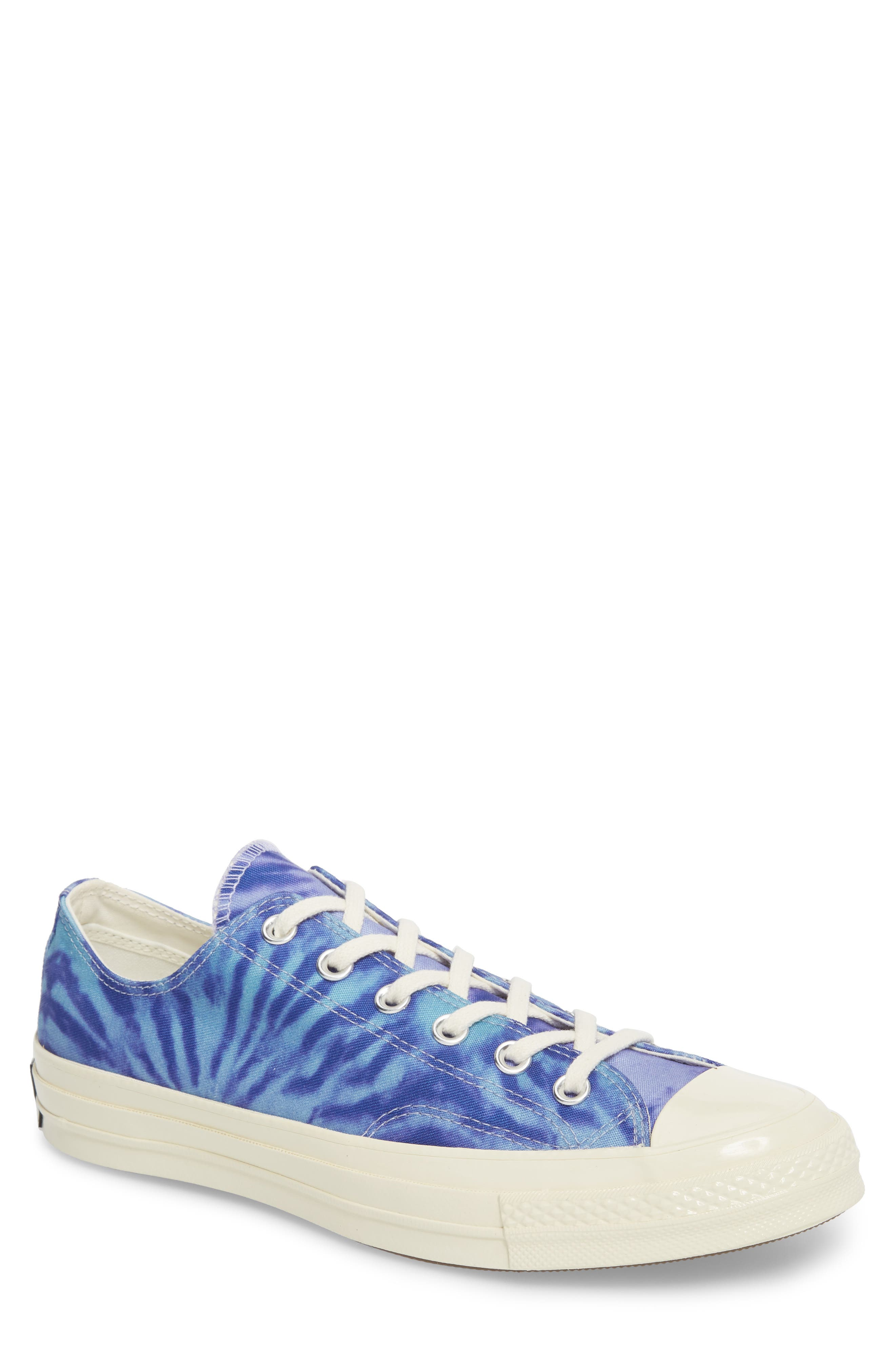 Chuck Taylor<sup>®</sup> All Star<sup>®</sup> 70 Tie Dye Low Top Sneaker,                         Main,                         color, Shoreline Blue