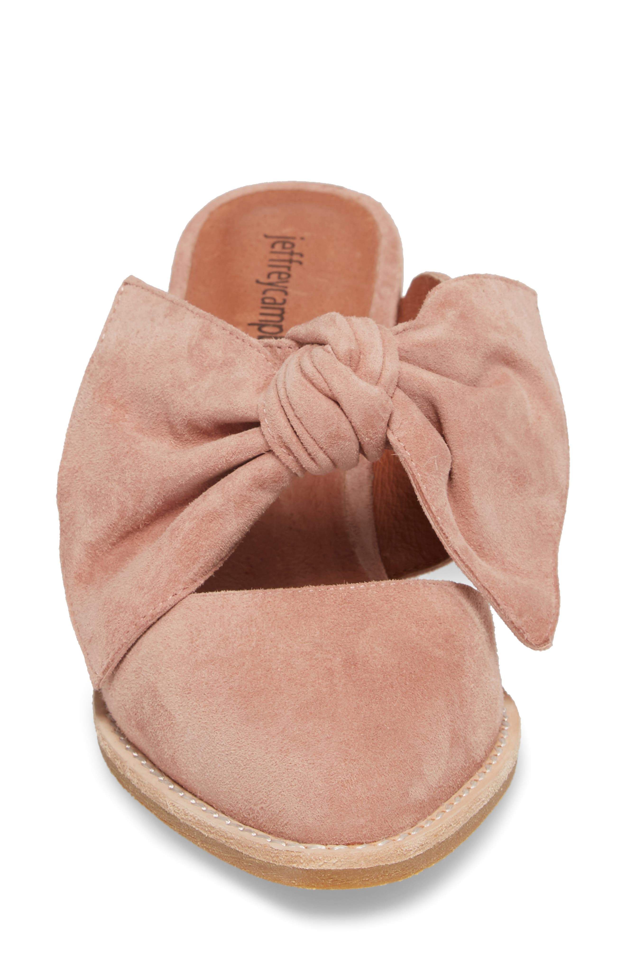 Cyrus Knotted Mary Jane Mule,                             Alternate thumbnail 4, color,                             Blush Suede