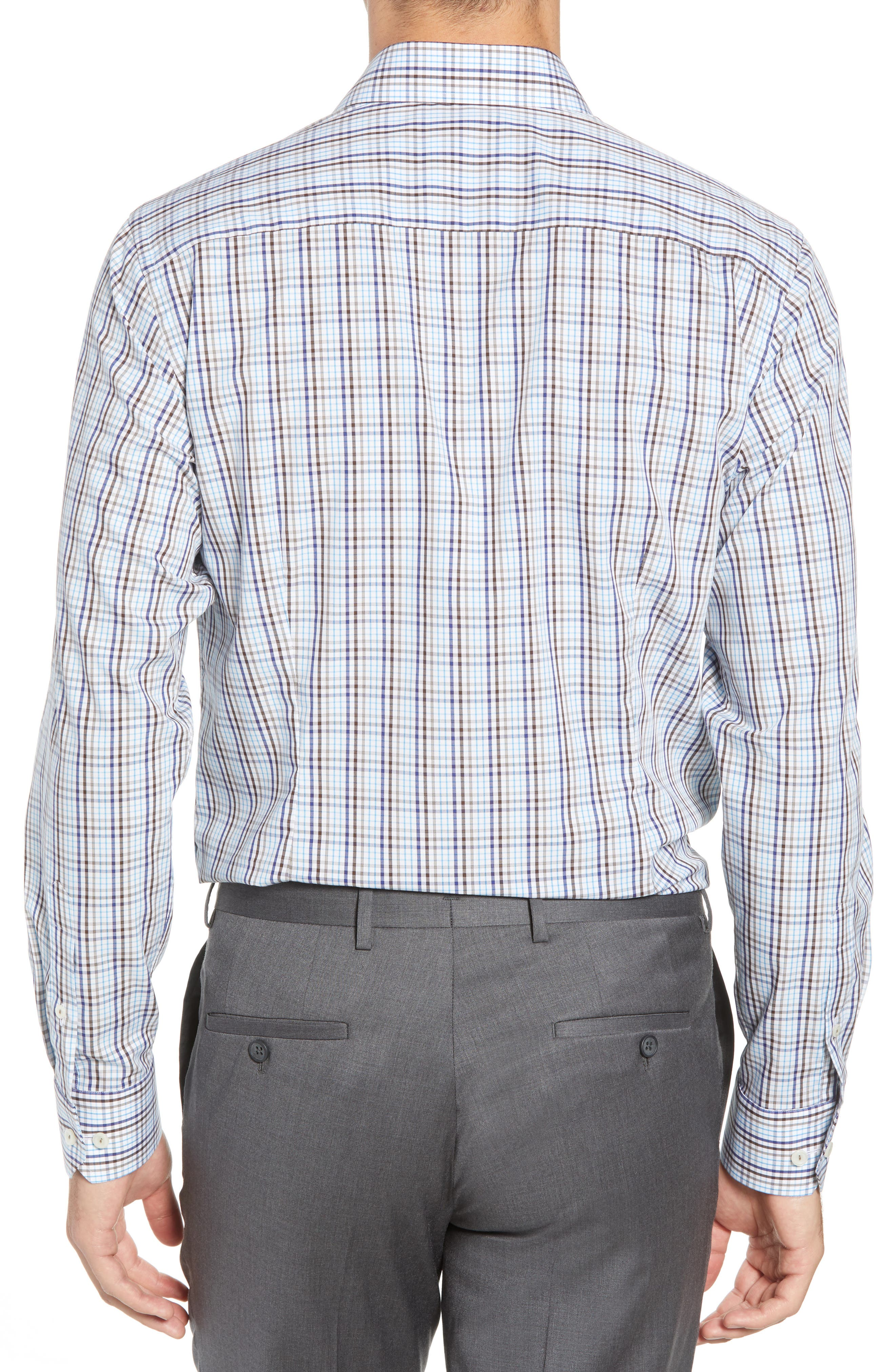 Contemporary Fit Check Dress Shirt,                             Alternate thumbnail 3, color,                             Multi